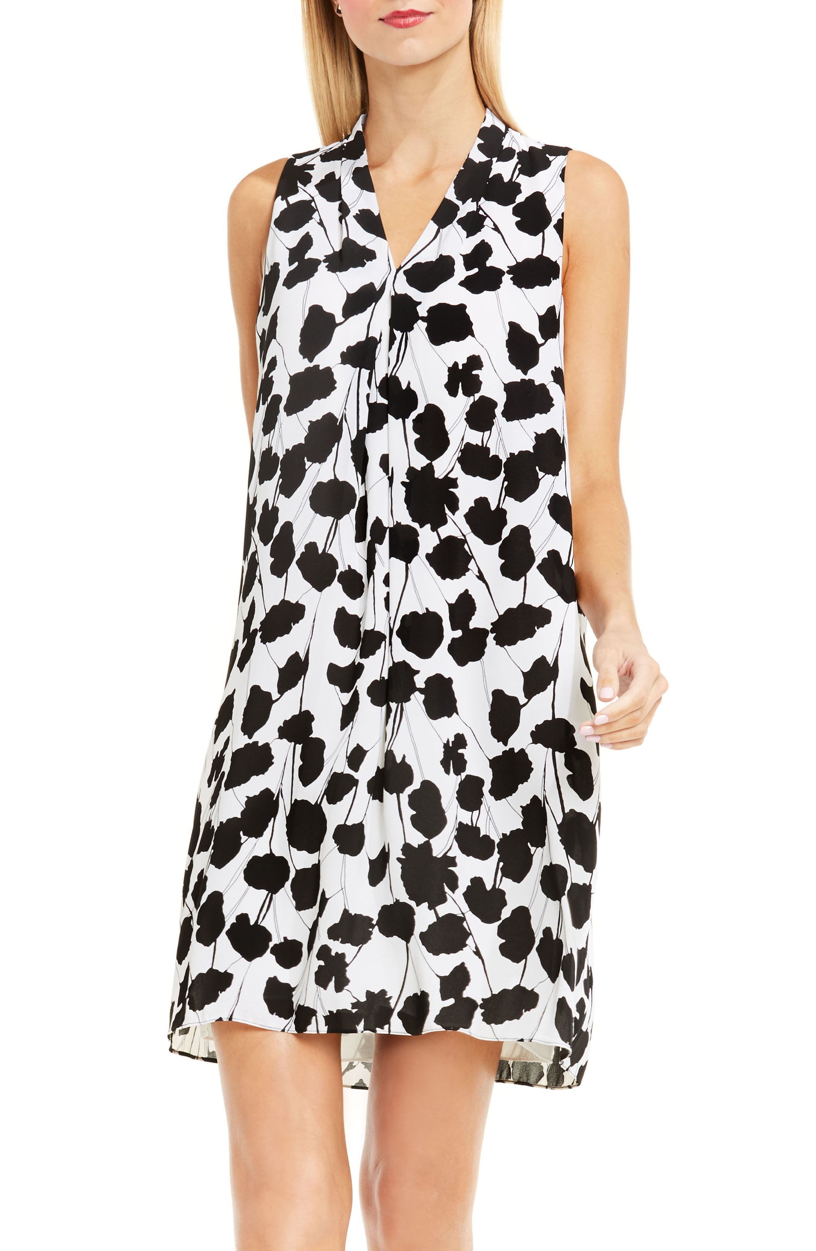 Alternate Image 1 Selected - Vince Camuto Elegant Blossom Shift Dress (Regular & Petite)