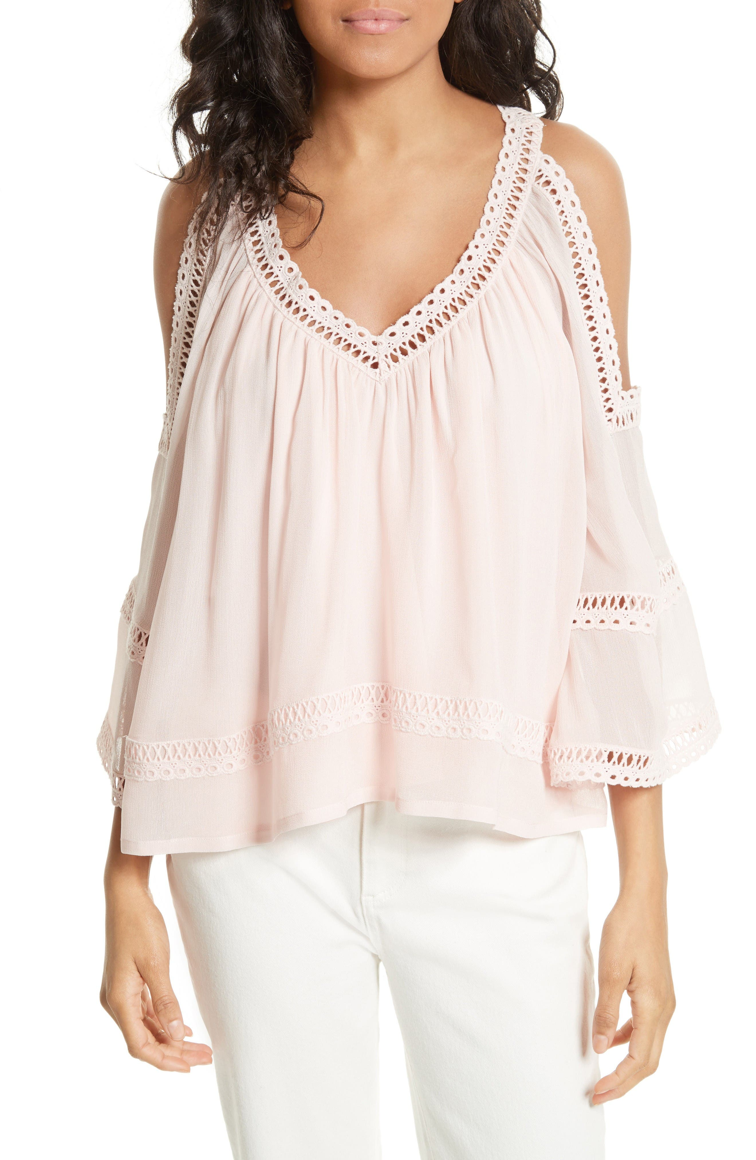 Alternate Image 1 Selected - Rebecca Minkoff Deneuve Crochet Blouse