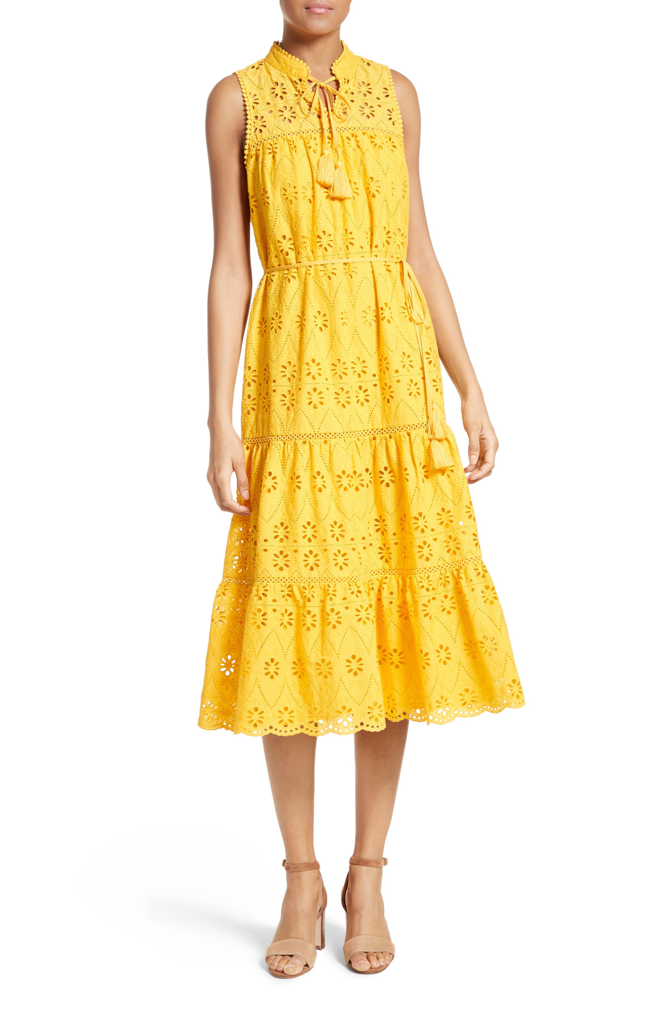 Main Image - kate spade new york eyelet embroidered patio dress