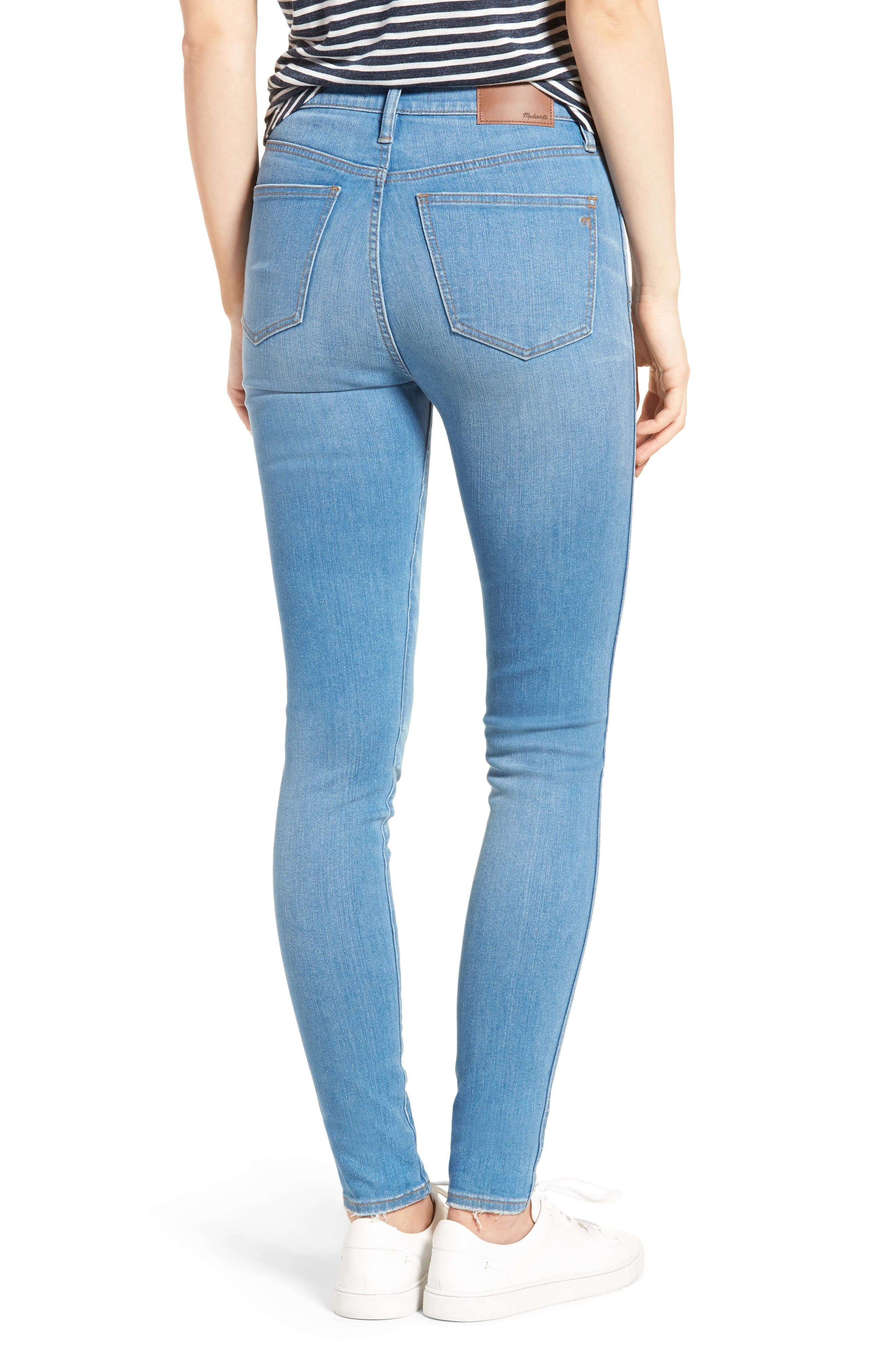 Alternate Image 2  - Madewell High Rise Skinny Jeans (Hank Wash)
