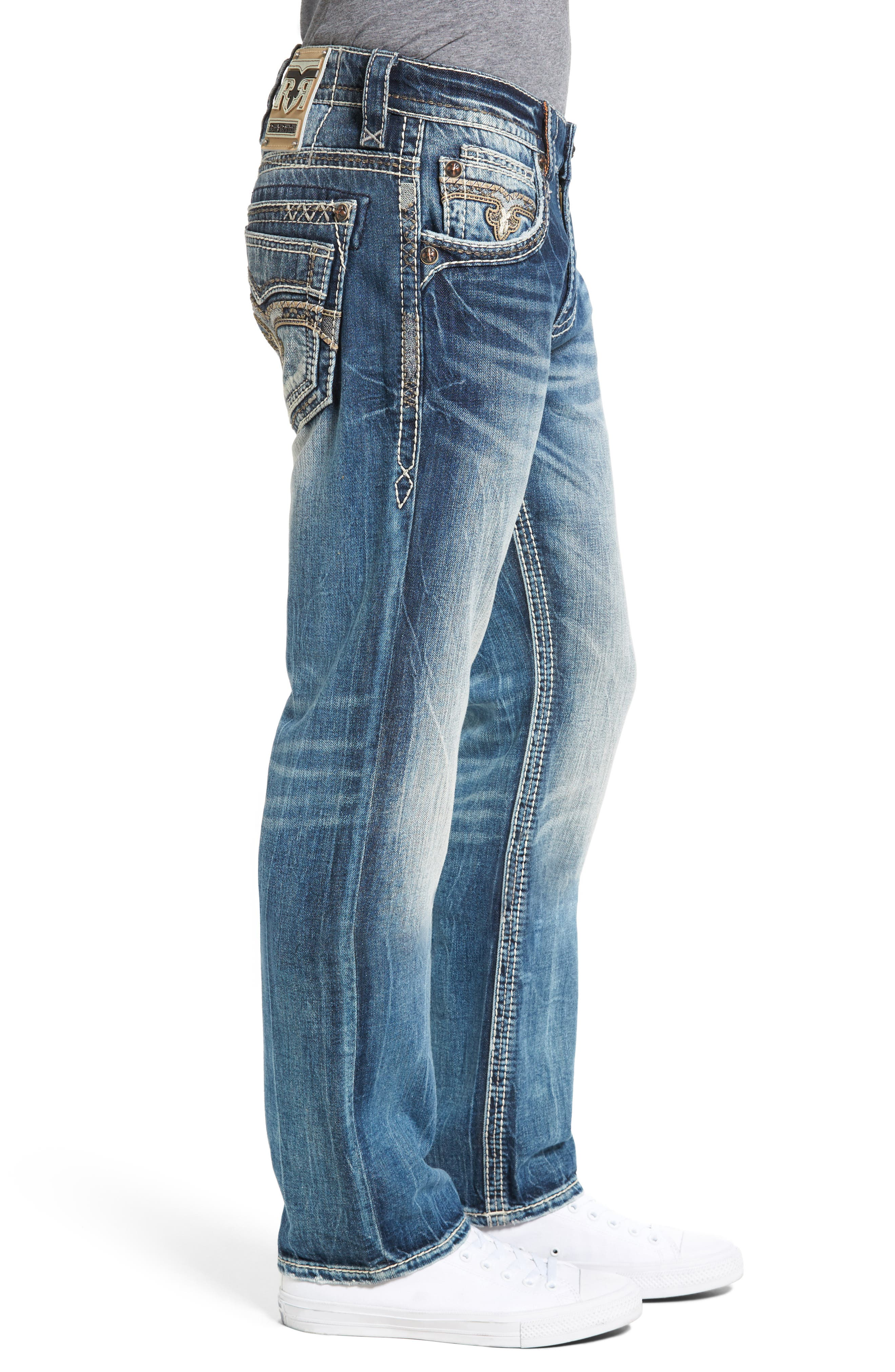 Alternate Image 3  - Rock Revival Straight Leg Jeans