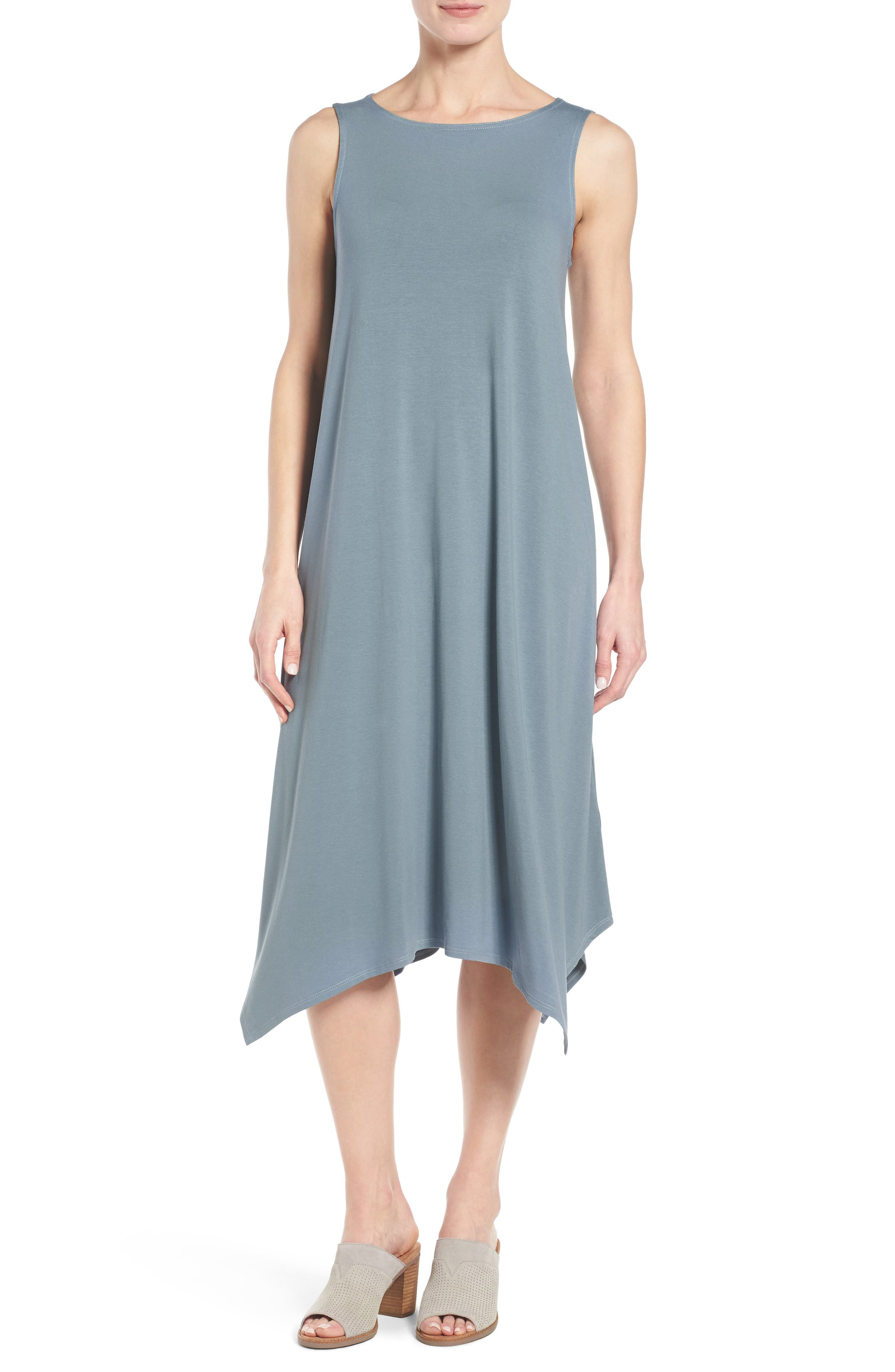 Alternate Image 1 Selected - Eileen Fisher Jersey Midi Dress (Regular & Petite)