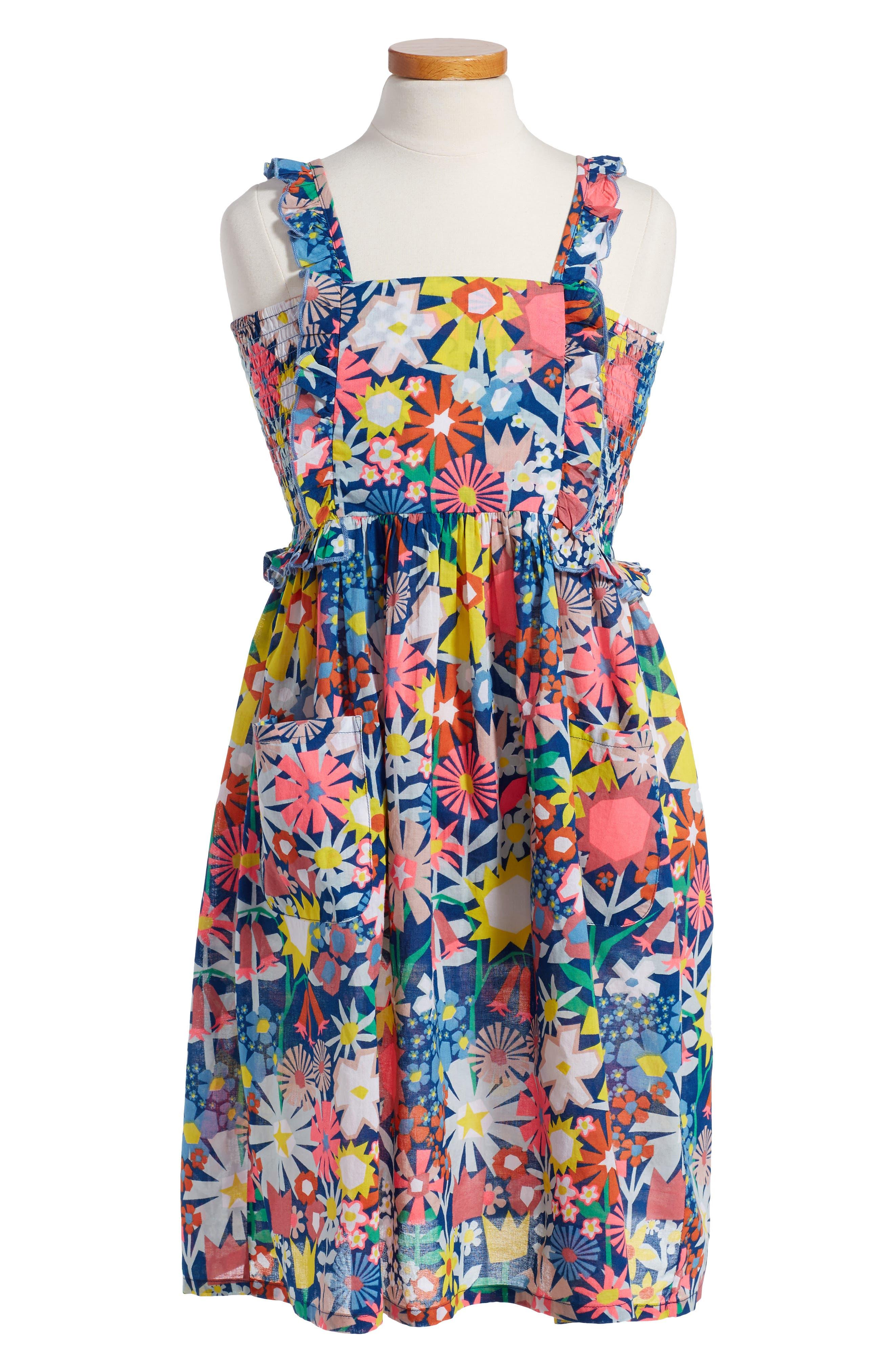 Stella McCartney Kids Celeste Floral Print Dress (Toddler Girls, Little Girls & Big Girls)