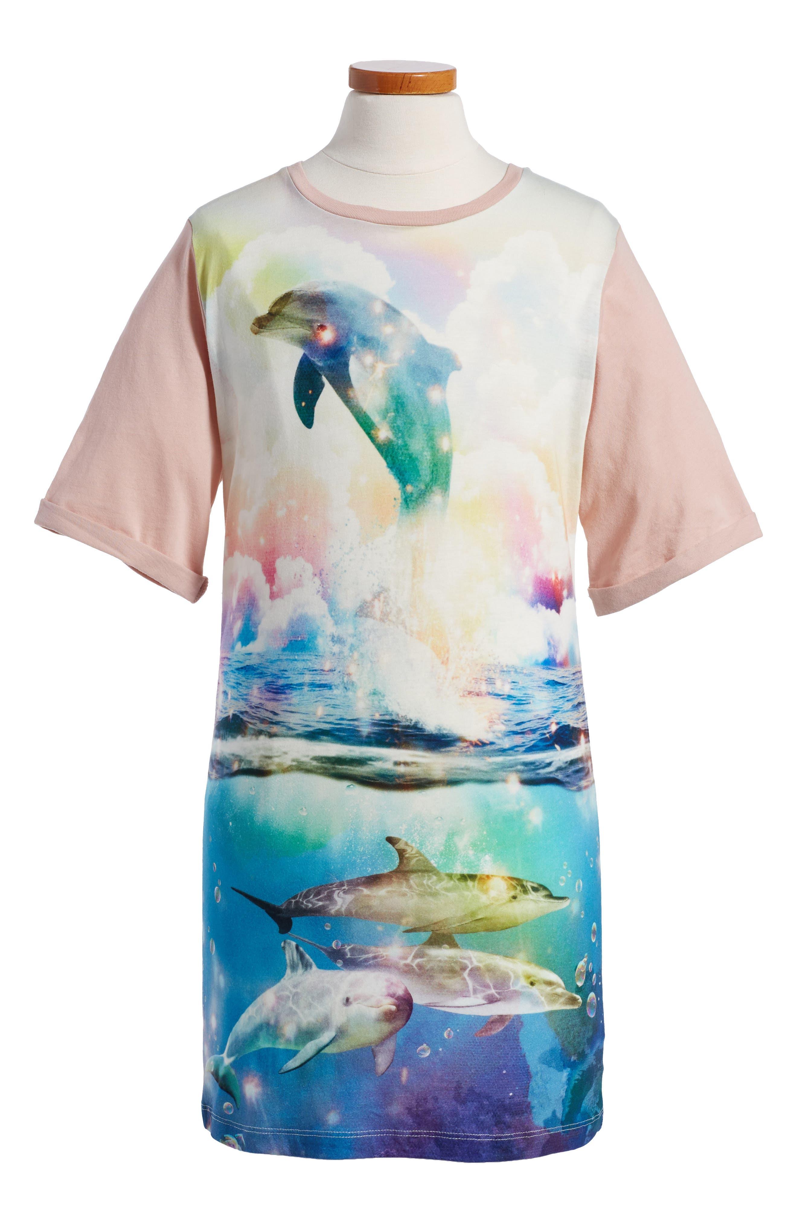 Stella McCartney Kids Hepsie Graphic T-Shirt Dress (Toddler Girls, Little Girls & Big Girls)