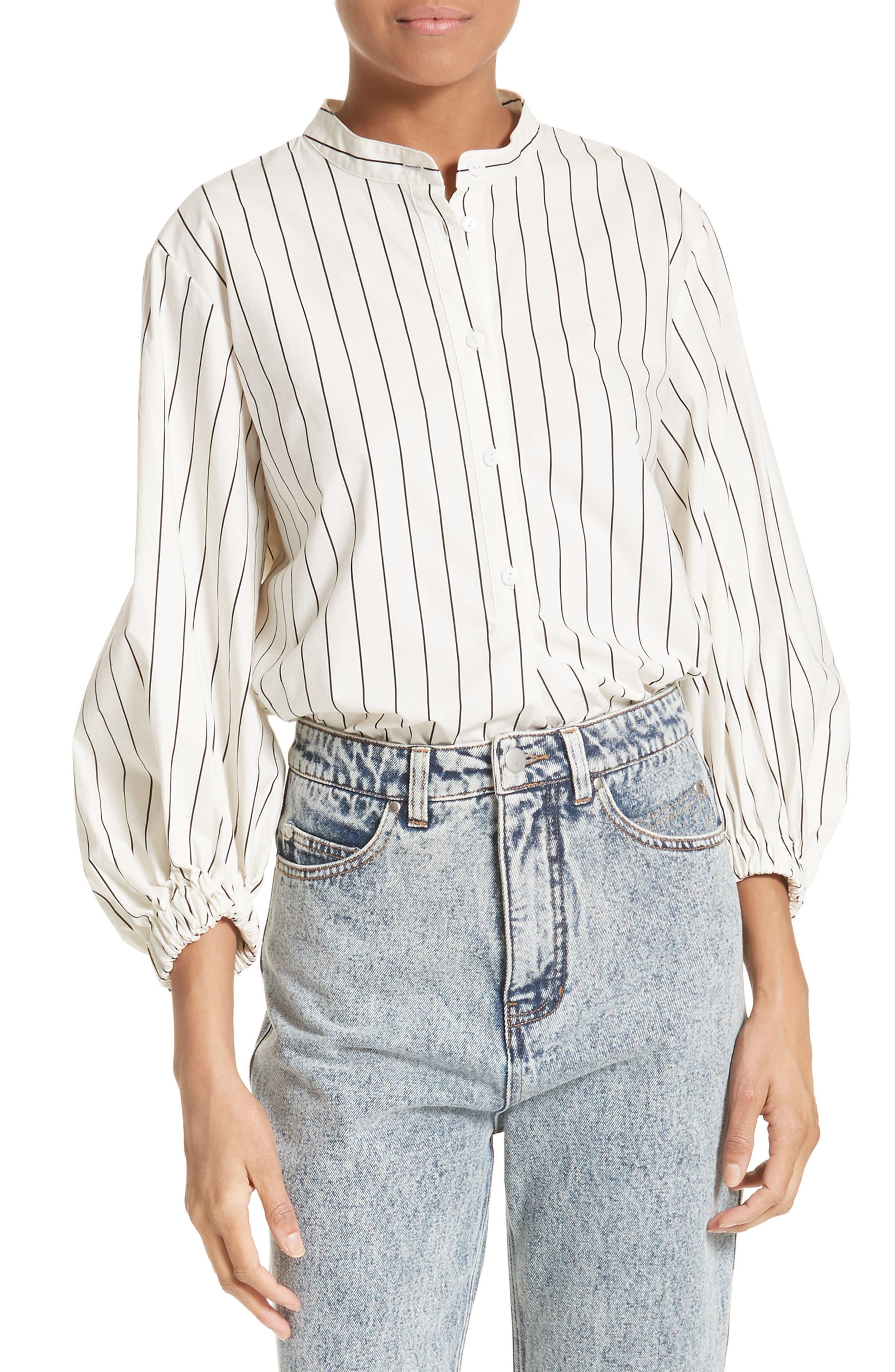 Tibi Pinstripe Cotton Shirt