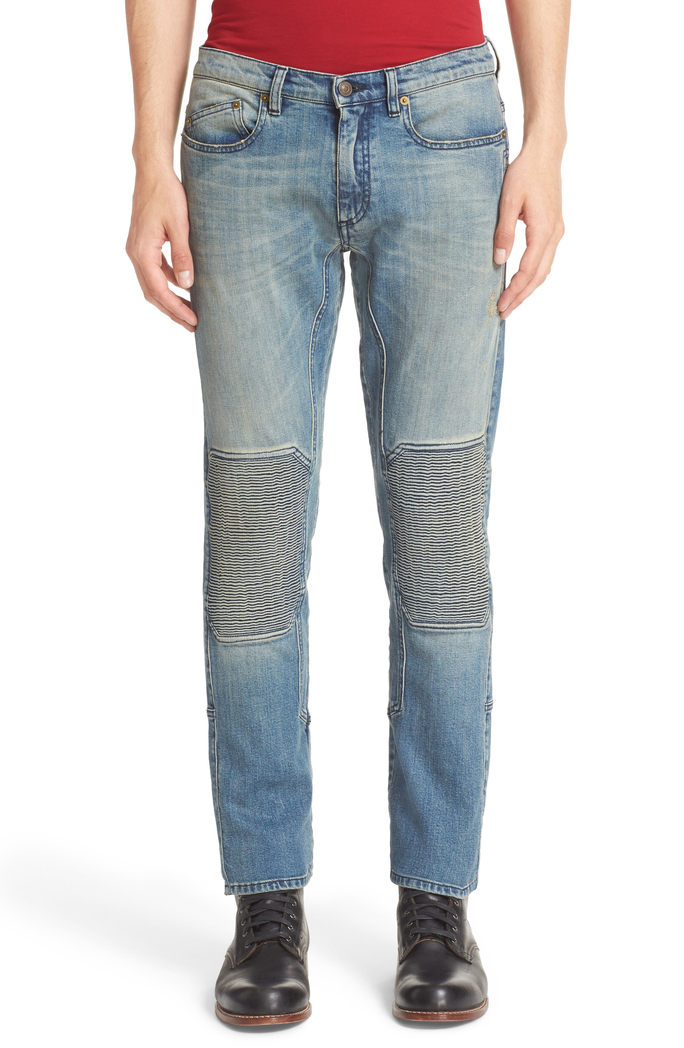 BELSTAFF Blackrod Straight Fit Faded Moto Jeans