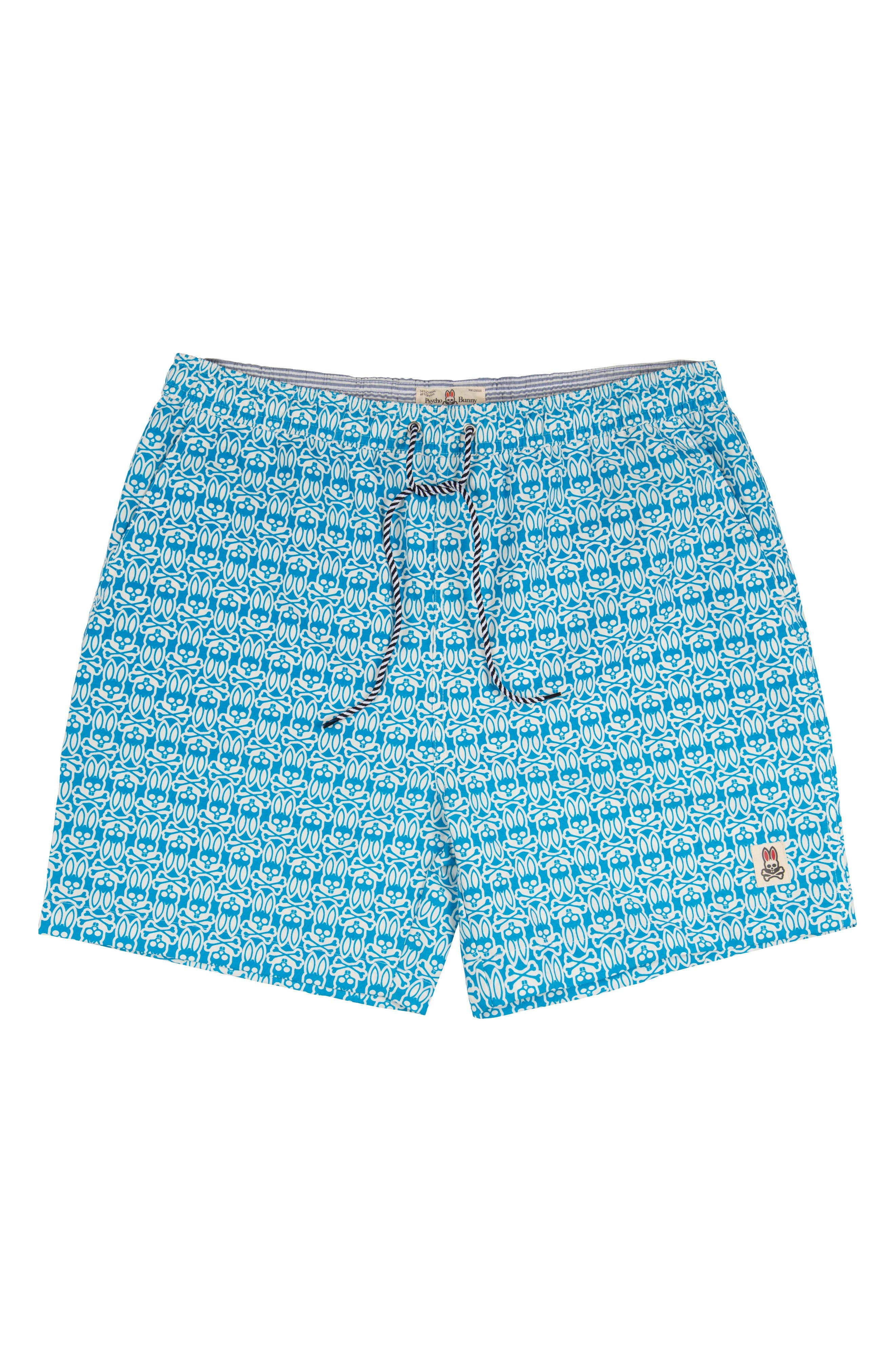 Psycho Bunny Logo Print Swim Trunks (Little Boys & Big Boys)