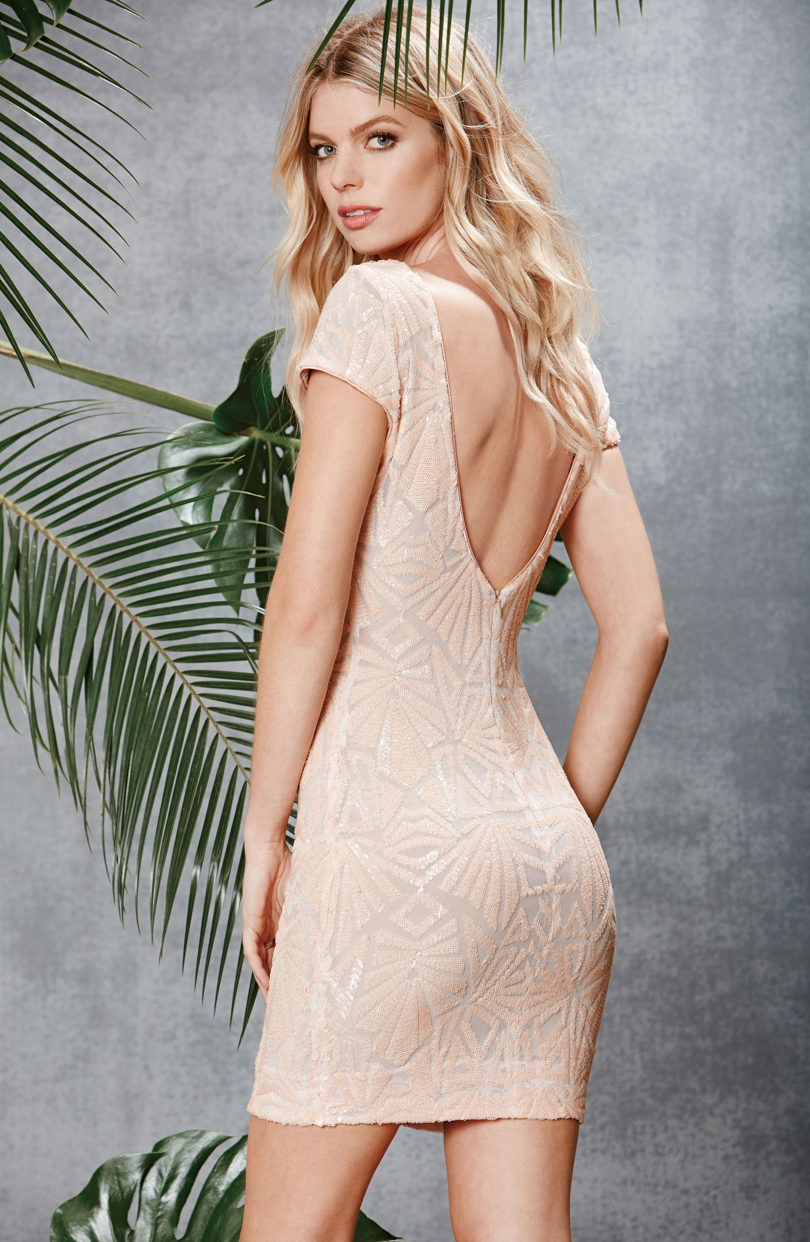 Alternate Image 7  - Dress the Population Tabitha Sequin Mesh Minidress