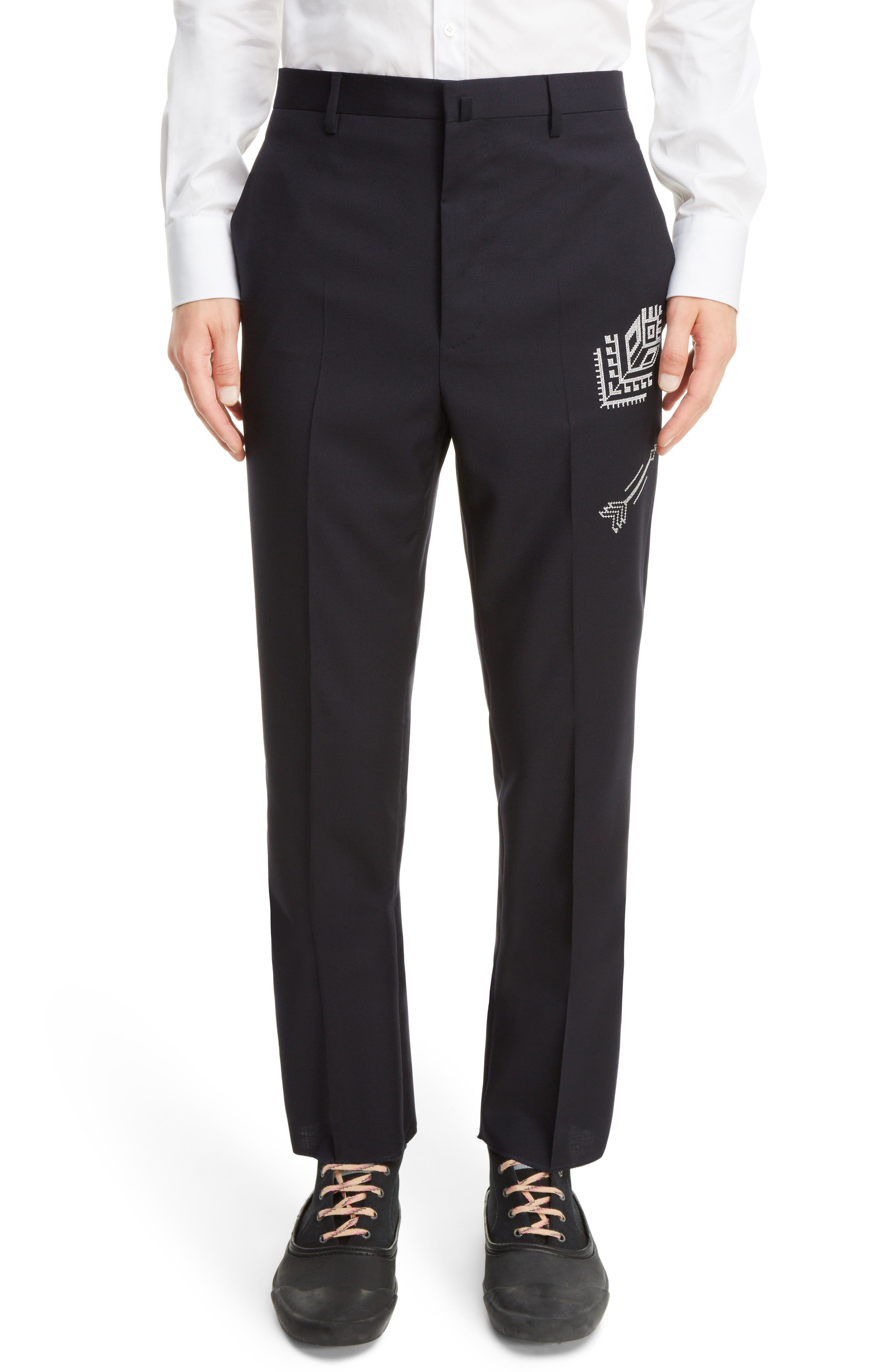 LANVIN Embroidered Wool Trousers