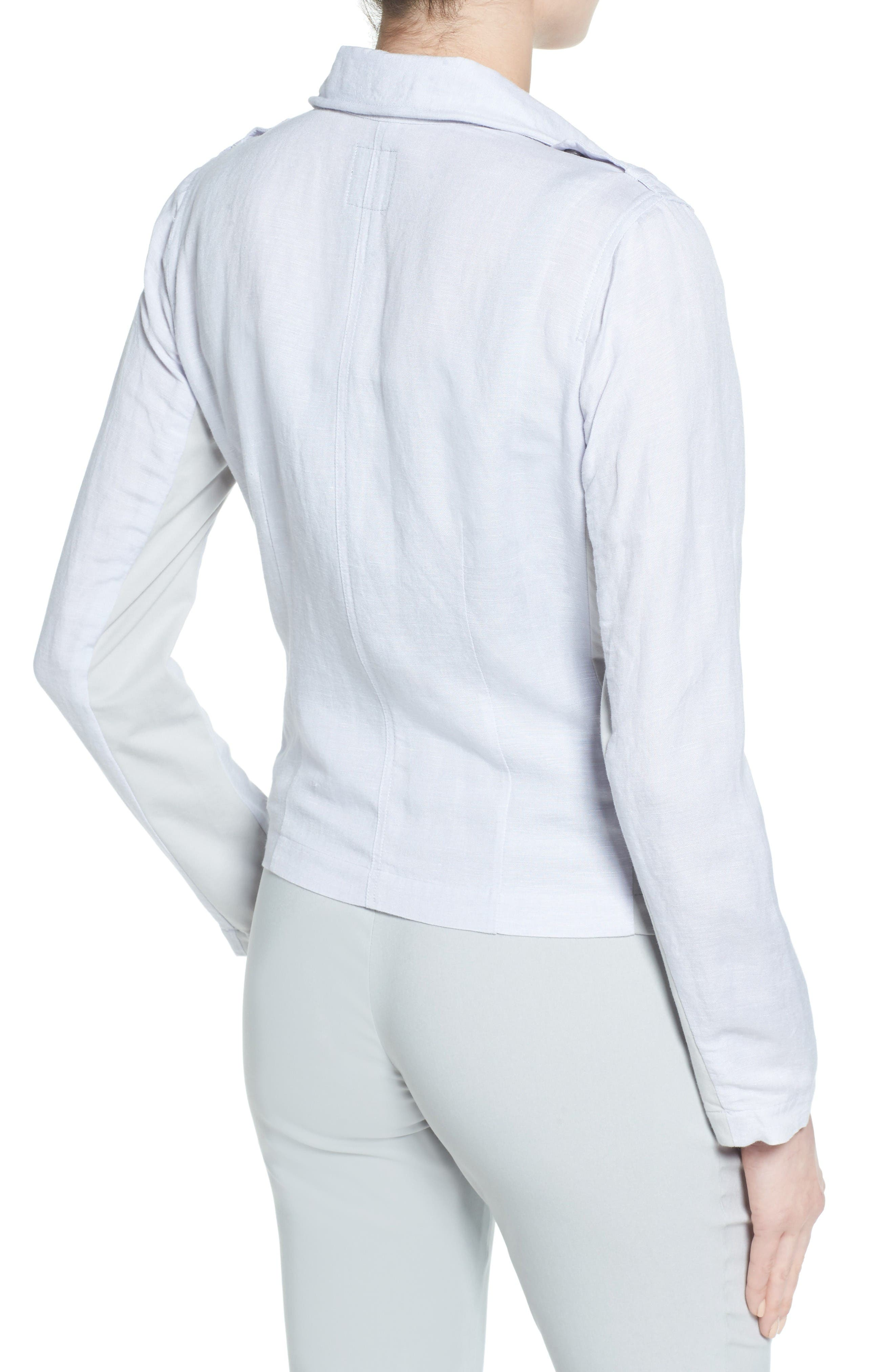 Alternate Image 2  - NIC+ZOE Linen Blend Biker Jacket (Regular & Petite)