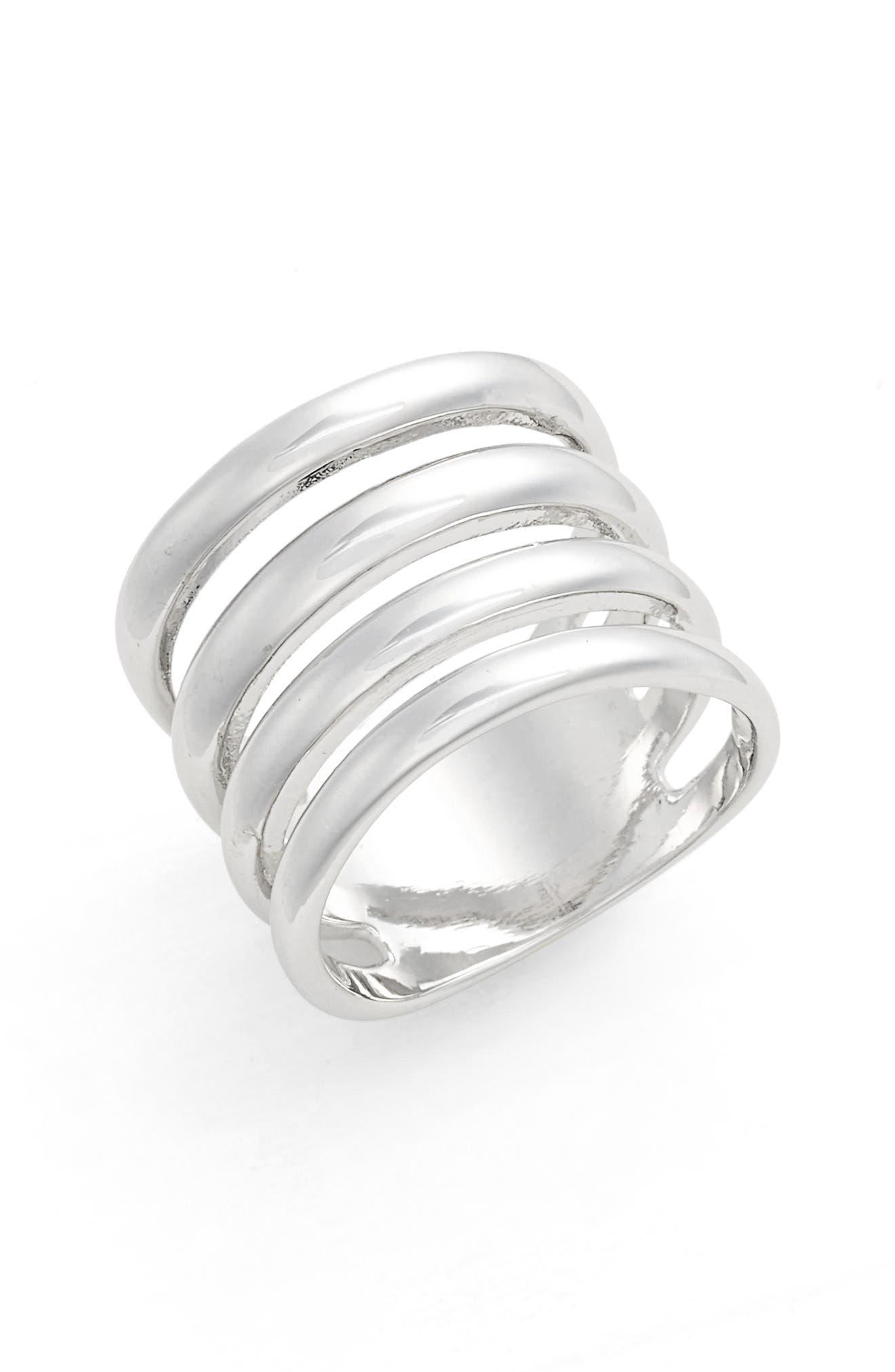 Alternate Image 1 Selected - Argento Vivo Openwork Ring