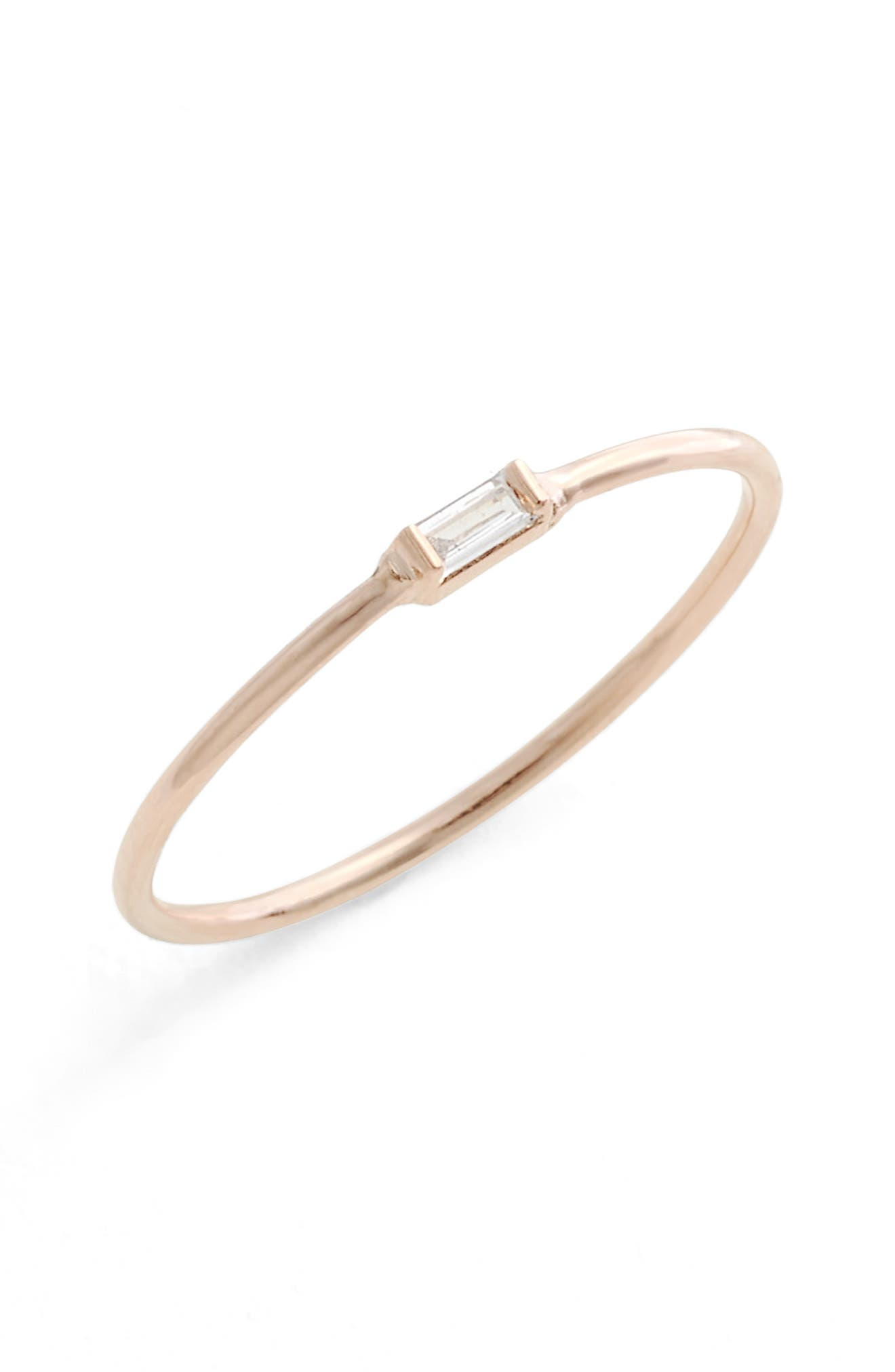 Zoë Chicco Baguette Diamond Stacking Ring