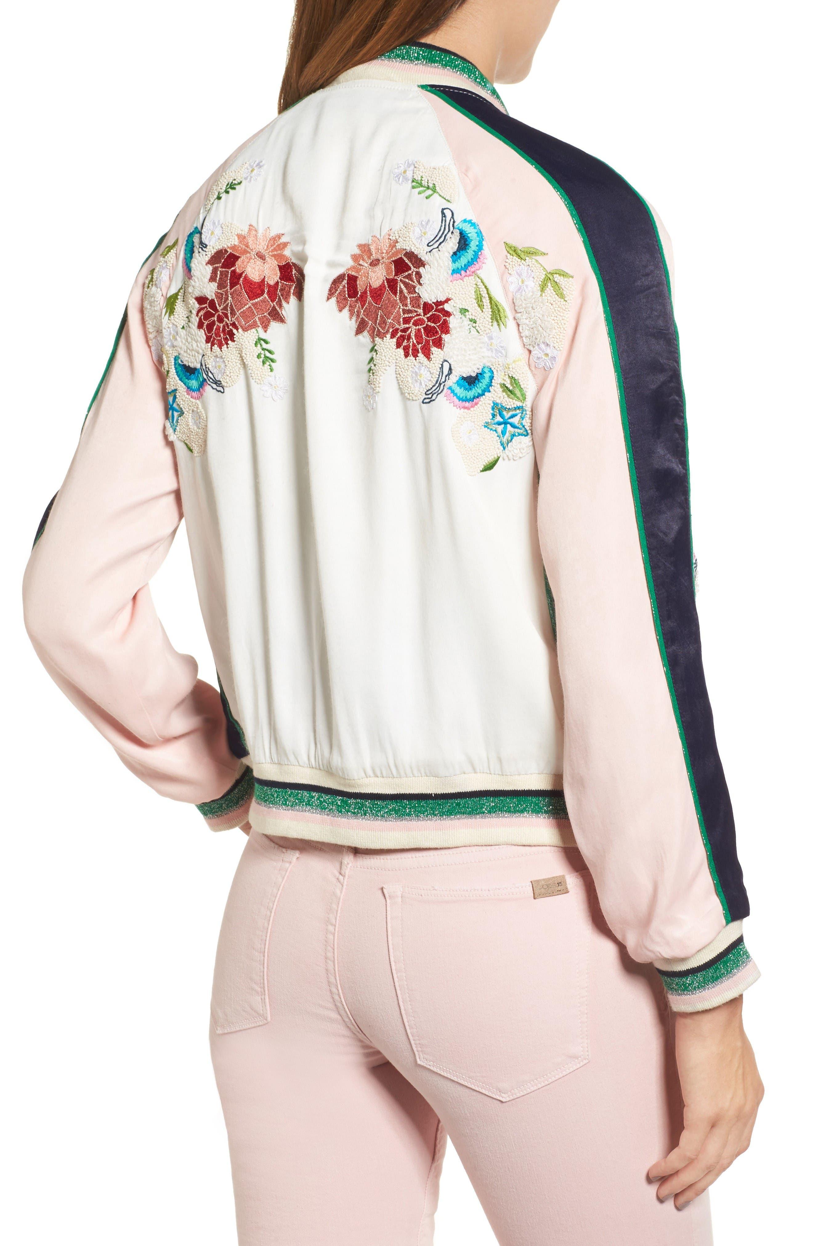Alternate Image 2  - Paul & Joe Sister Les Fleurs Embroidered Bomber Jacket