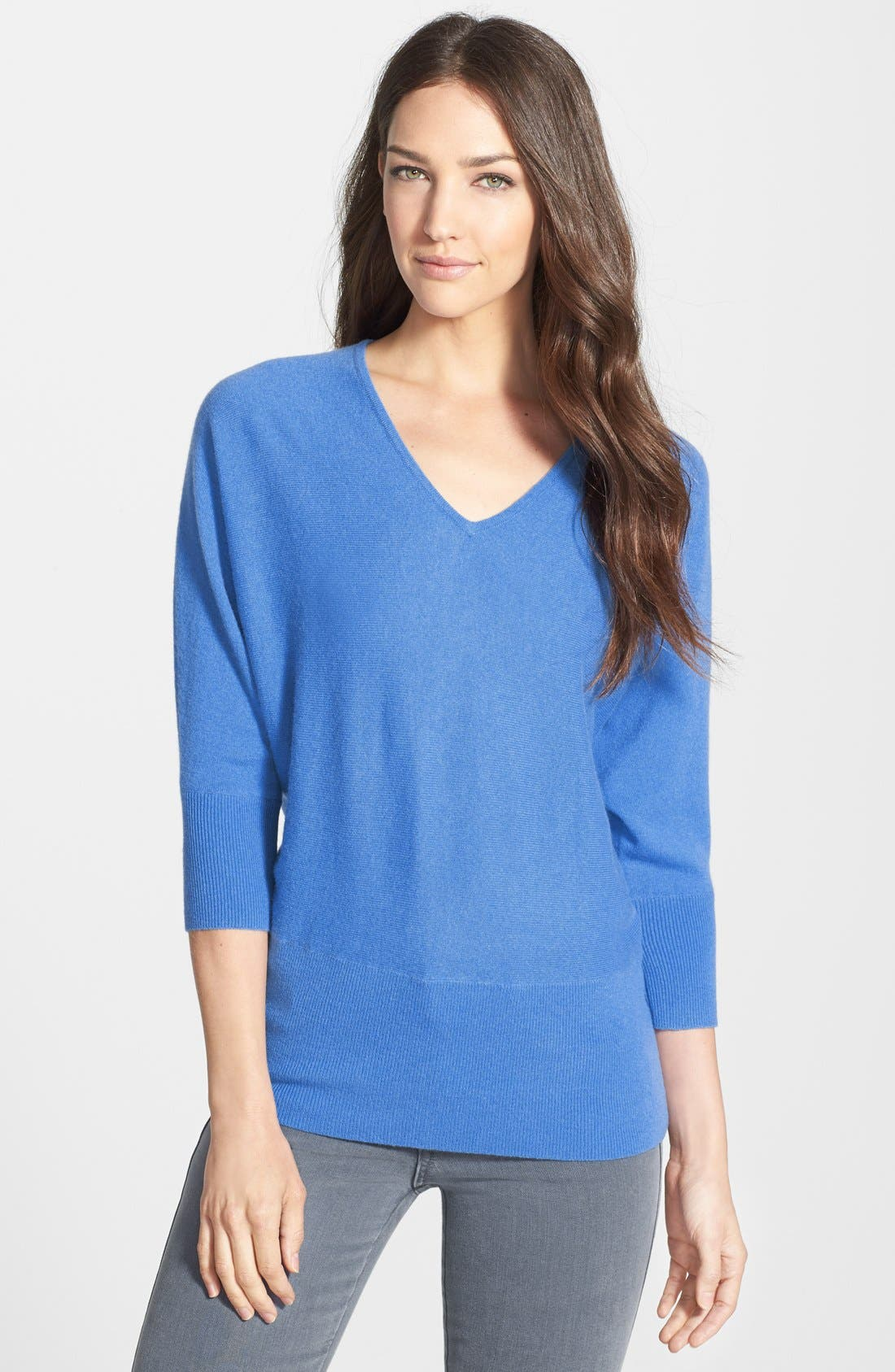 Alternate Image 1 Selected - Nordstrom Collection V-Neck Cashmere Sweater