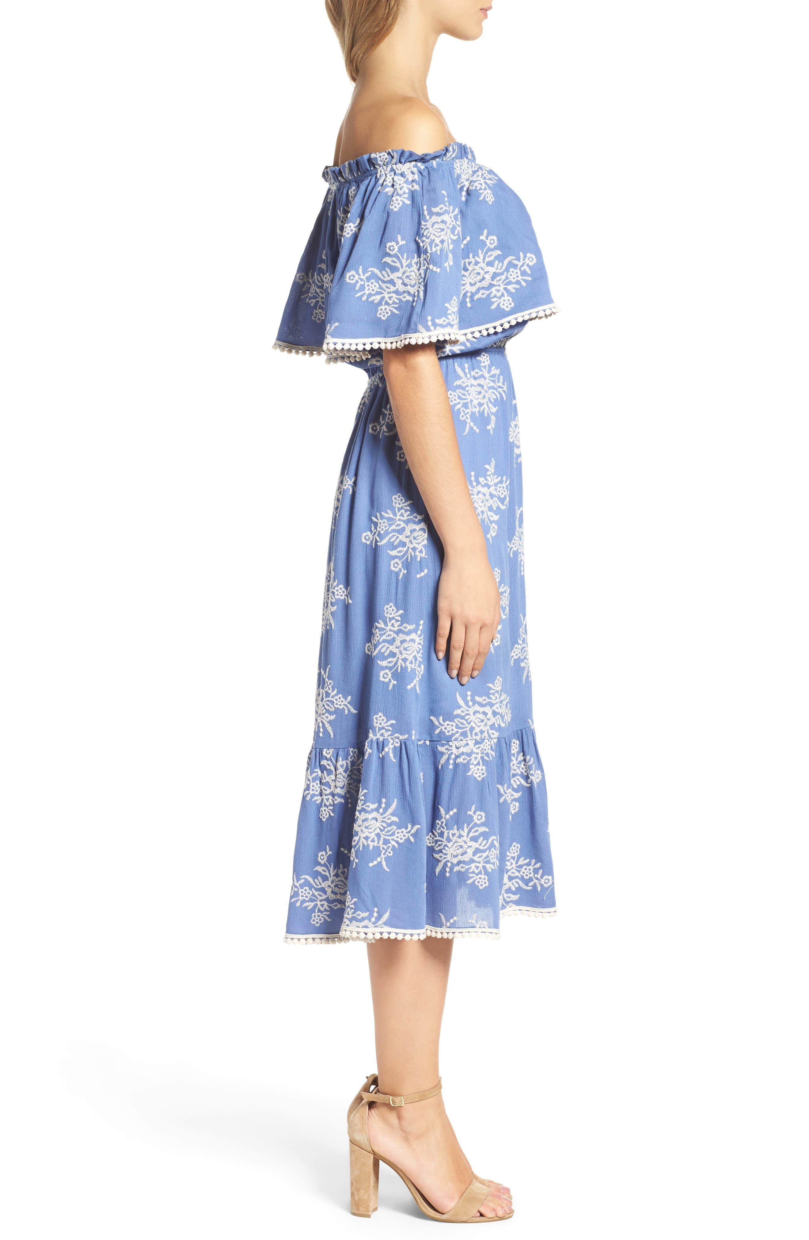 Alternate Image 3  - Fraiche by J Off the Shoulder Midi Dress