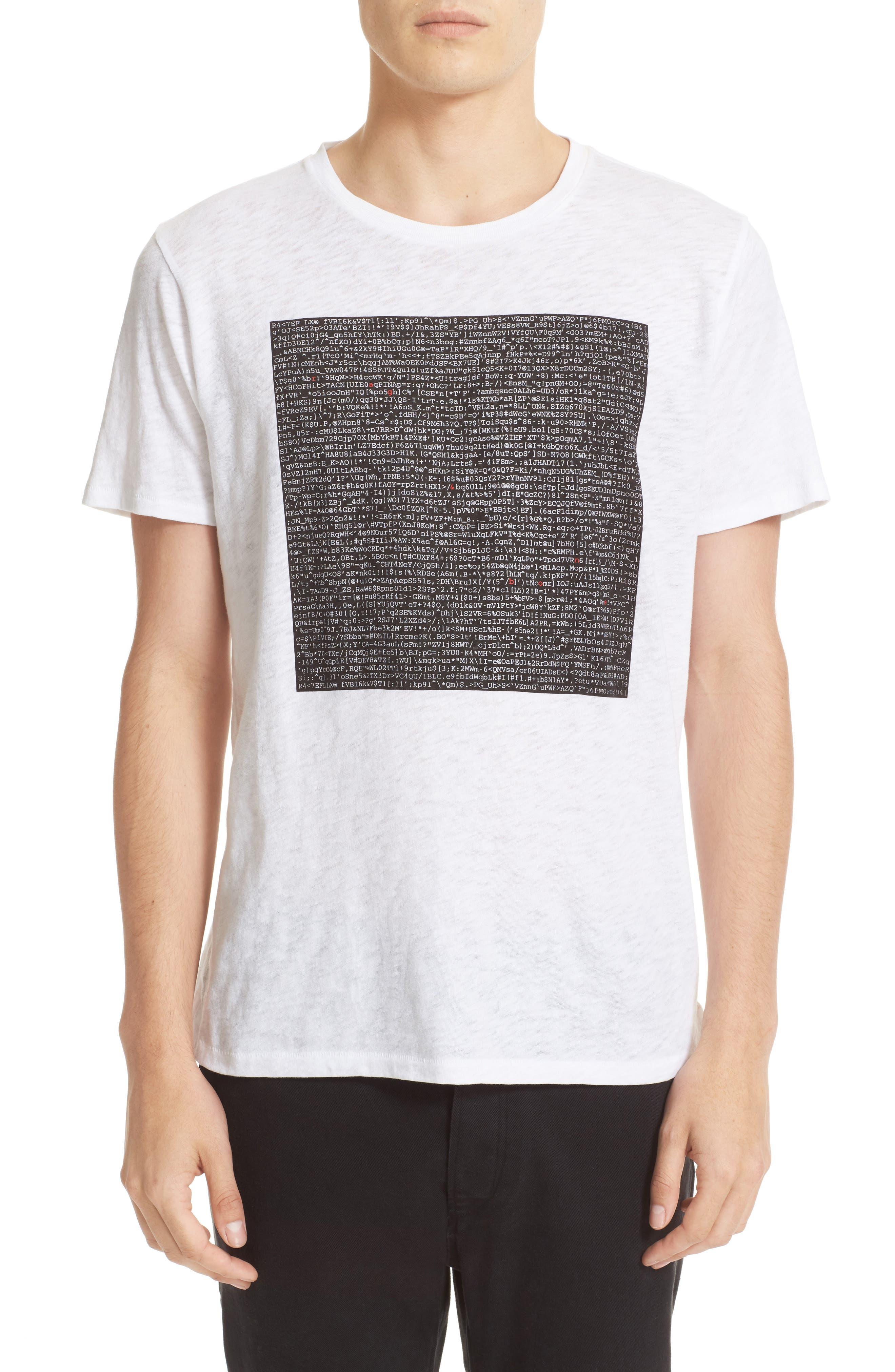 rag & bone Graphic Code T-Shirt
