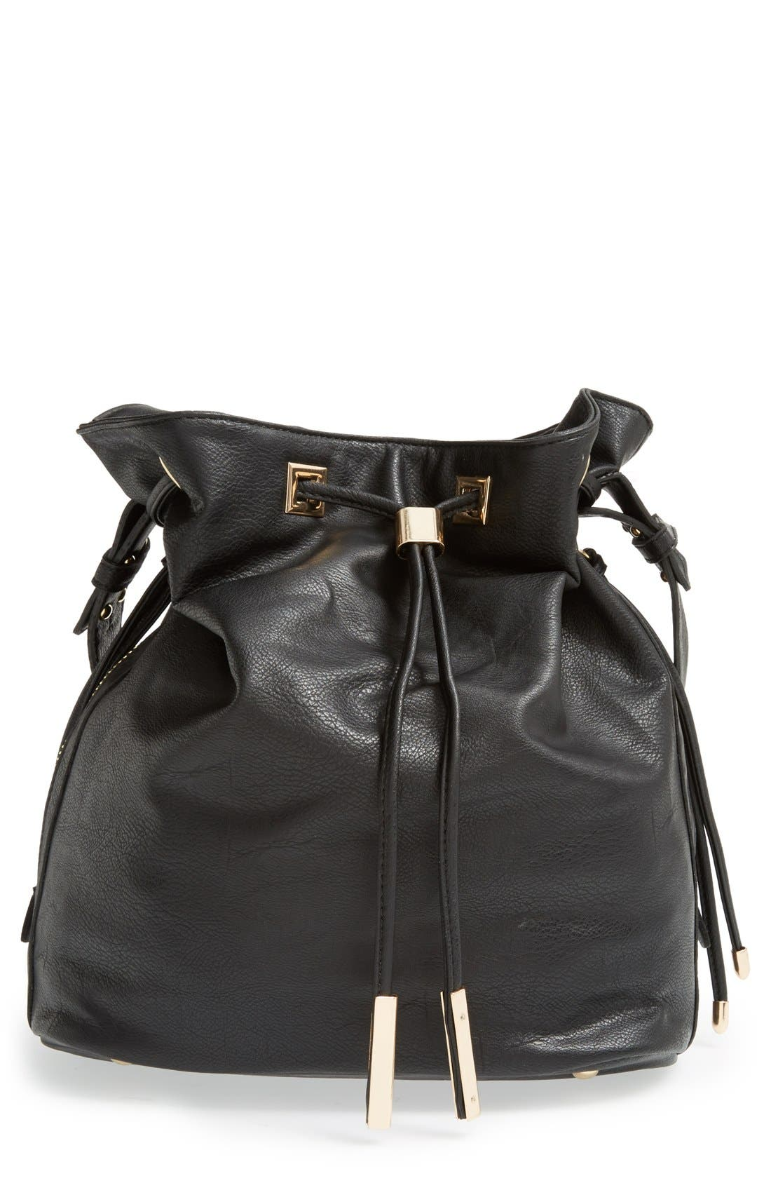 Alternate Image 1 Selected - Sole Society 'Logan' Faux Leather Bucket Bag