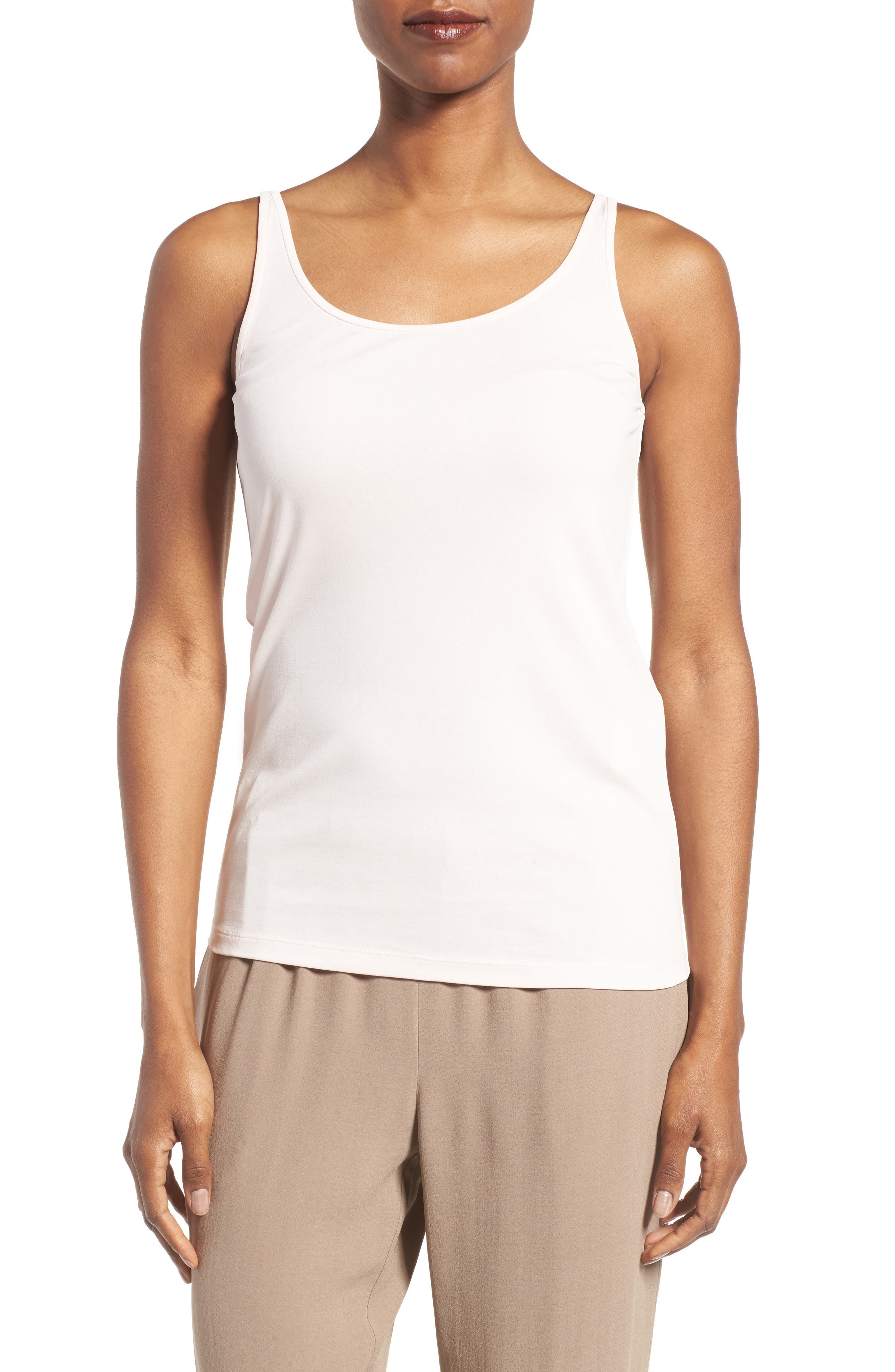 EILEEN FISHER Long Scoop Neck Camisole