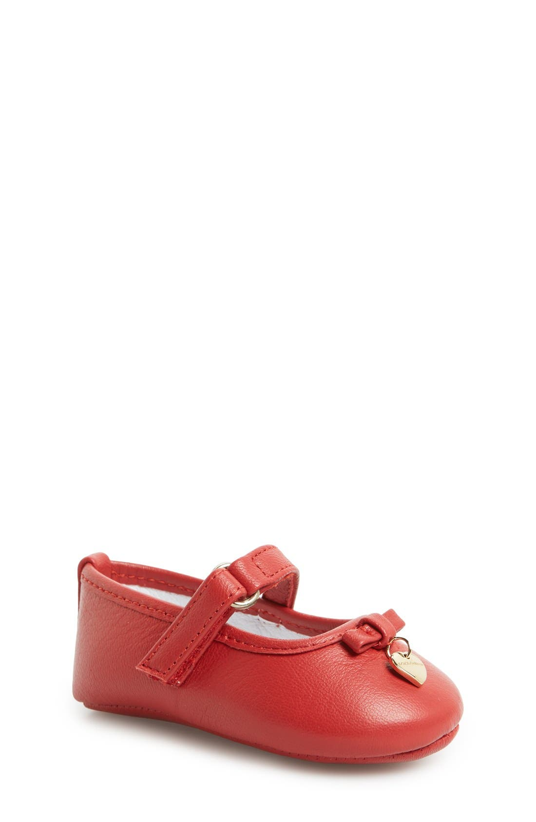 Main Image - Dolce&Gabbana Mary Jane Crib Shoe (Baby & Walker)