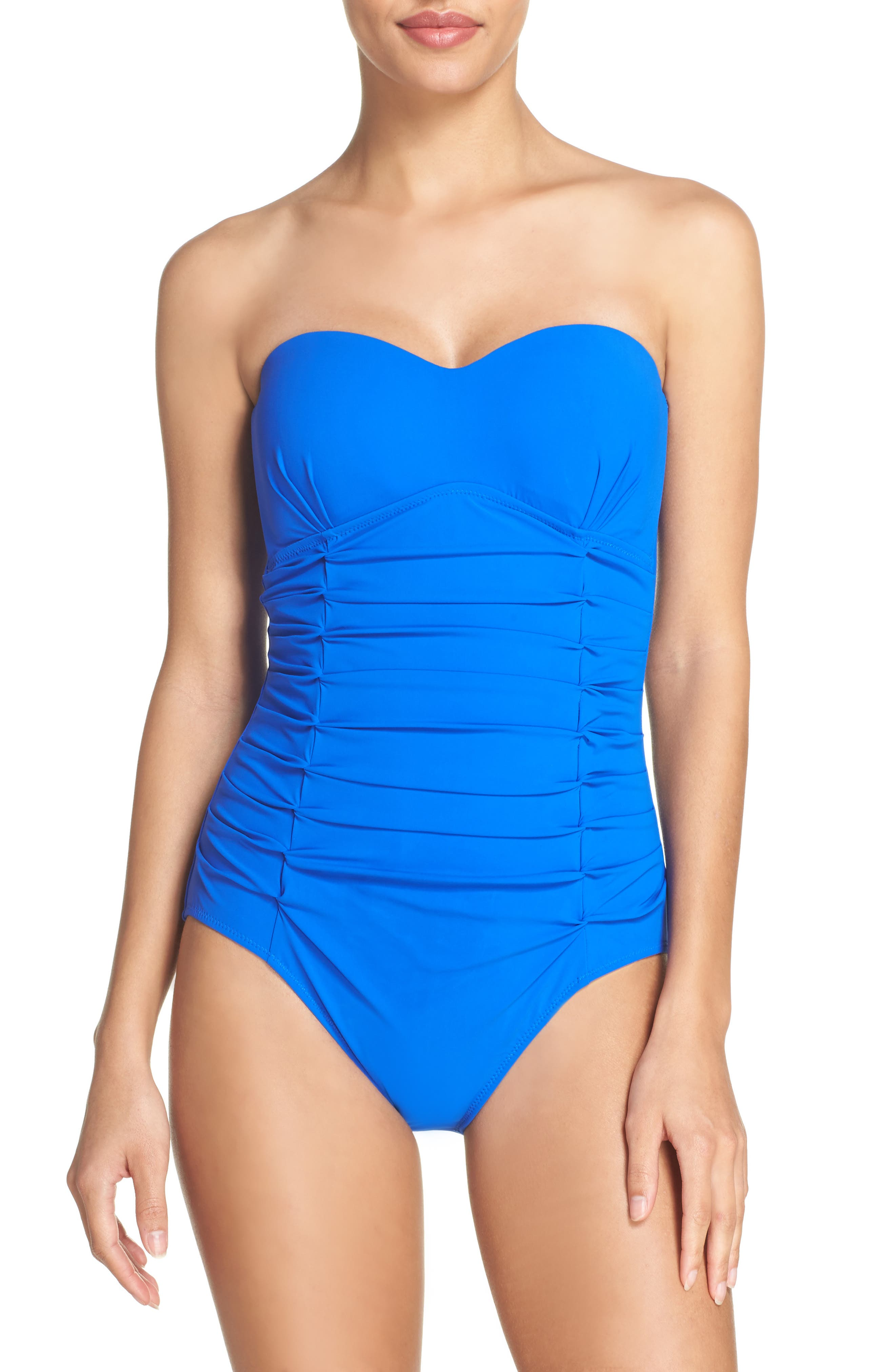 Profile by Gottex Origami Bandeau One-Piece Swimsuit