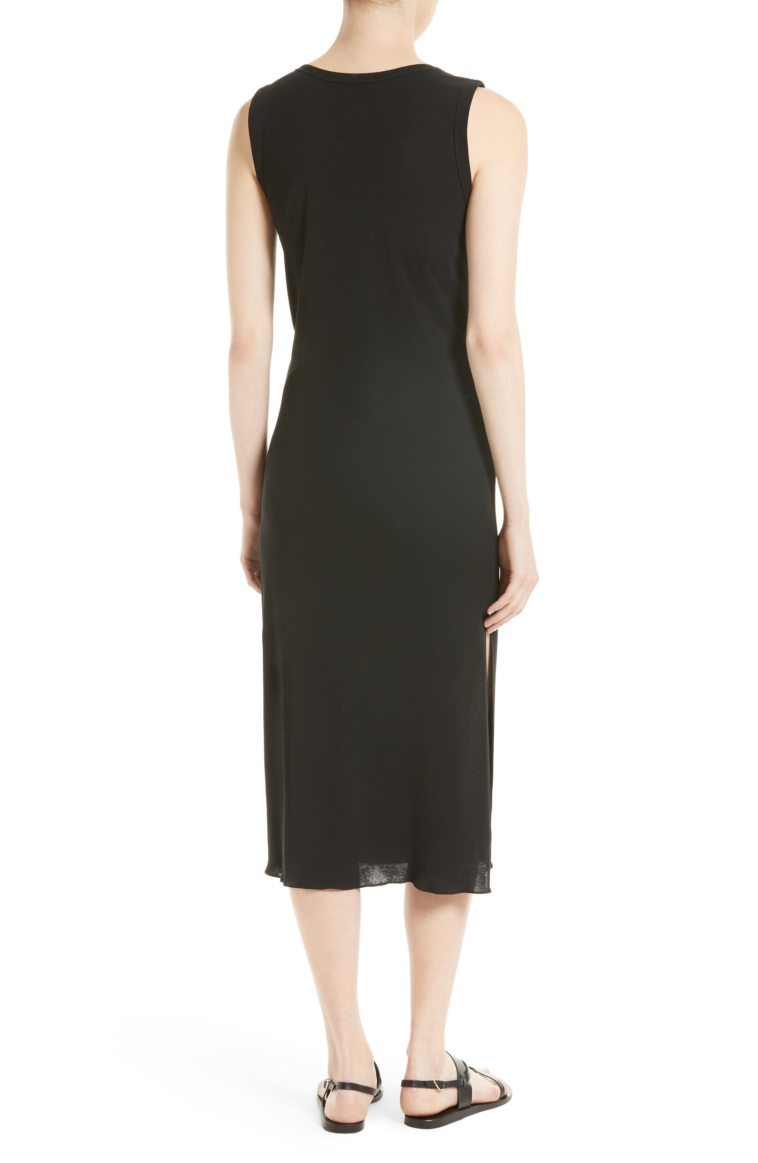 Alternate Image 2  - Theory Dorotea K Tie Front Cotton Interlock Dress