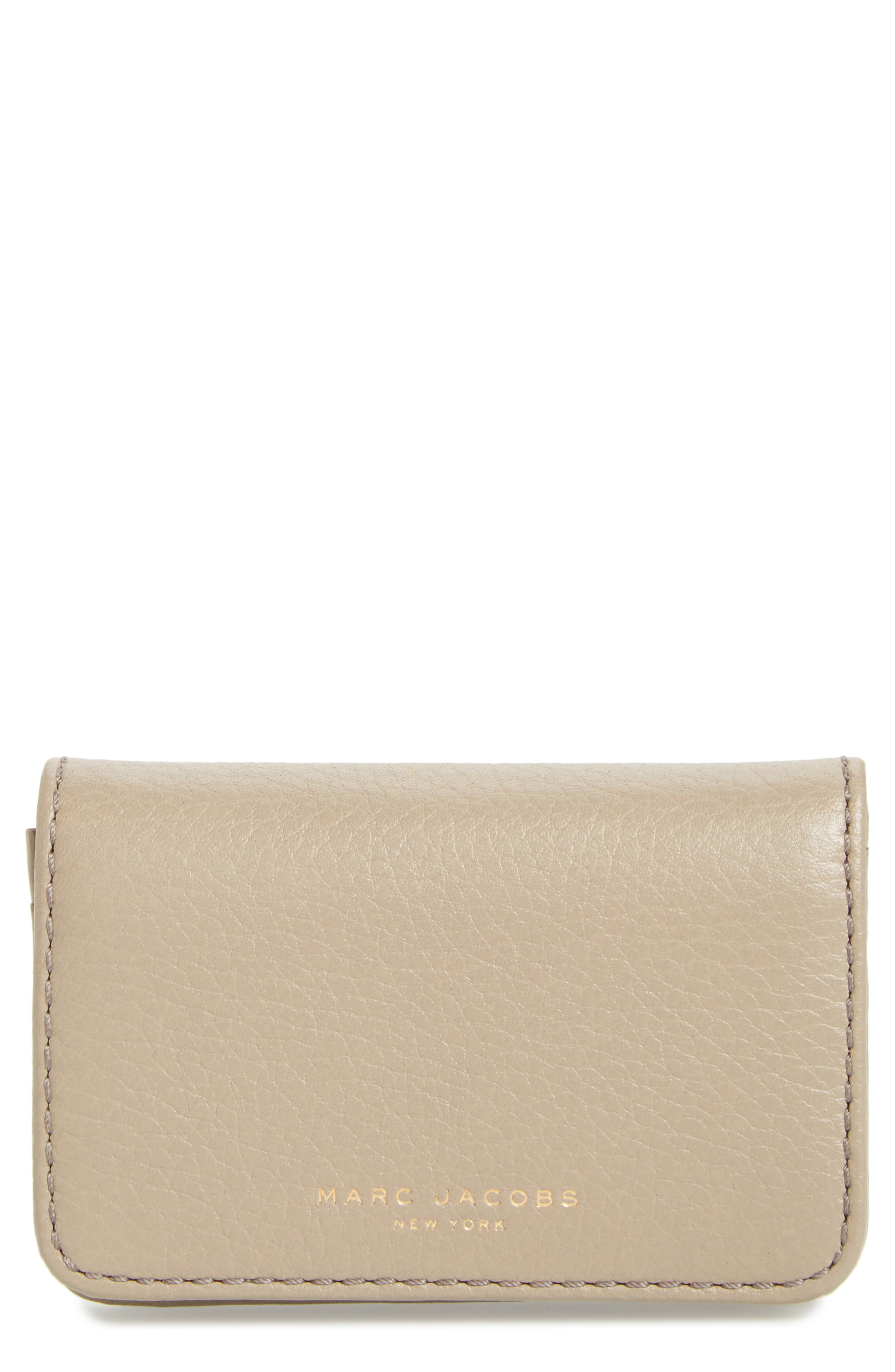 MARC JACOBS Recruit Leather Business Card Case