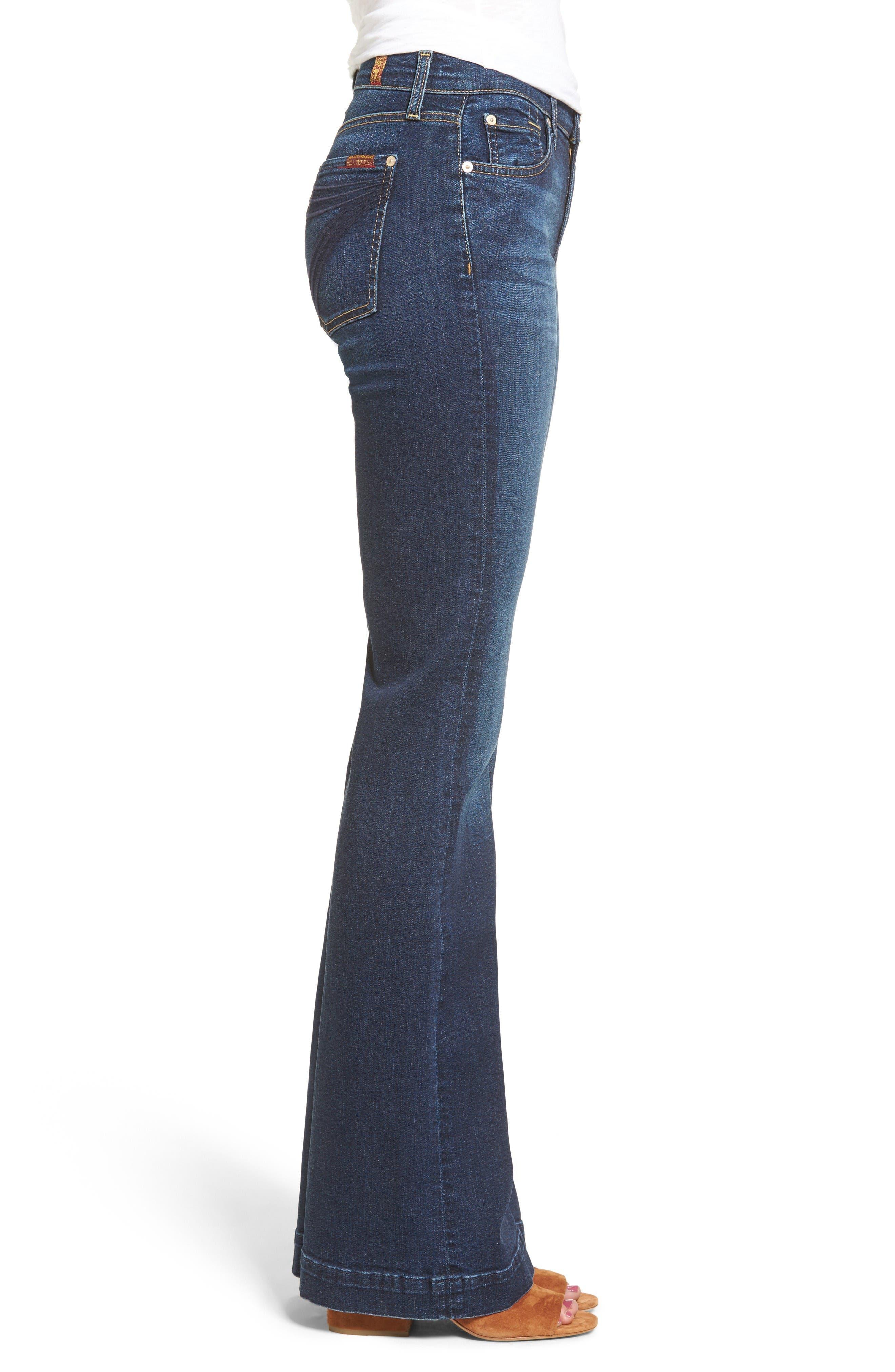 Alternate Image 3  - 7 For All Mankind® Dojo High Waist Wide Leg Jeans (Santiago Canyon)