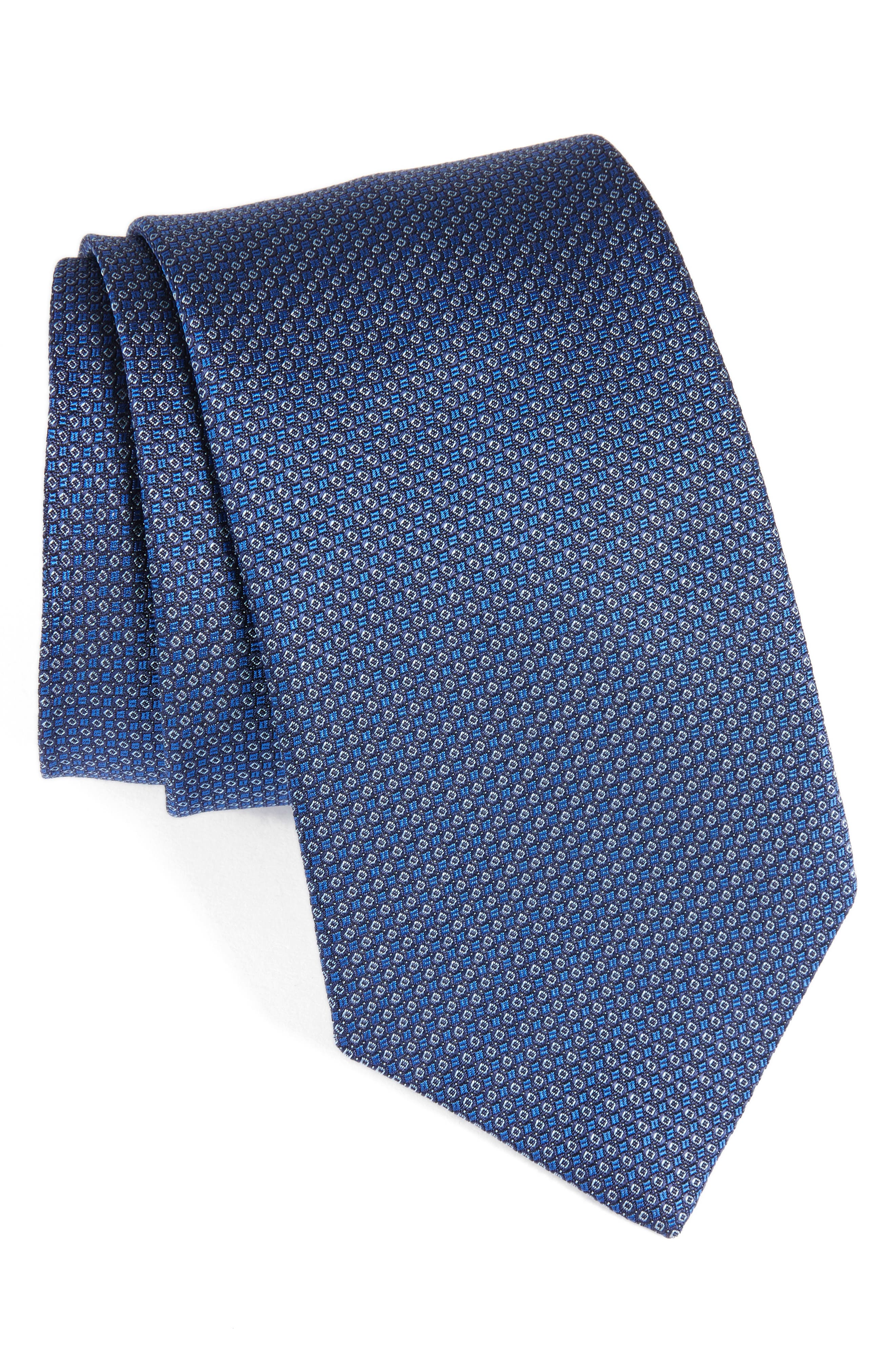 David Donahue Medallion Silk Tie (X-Long)