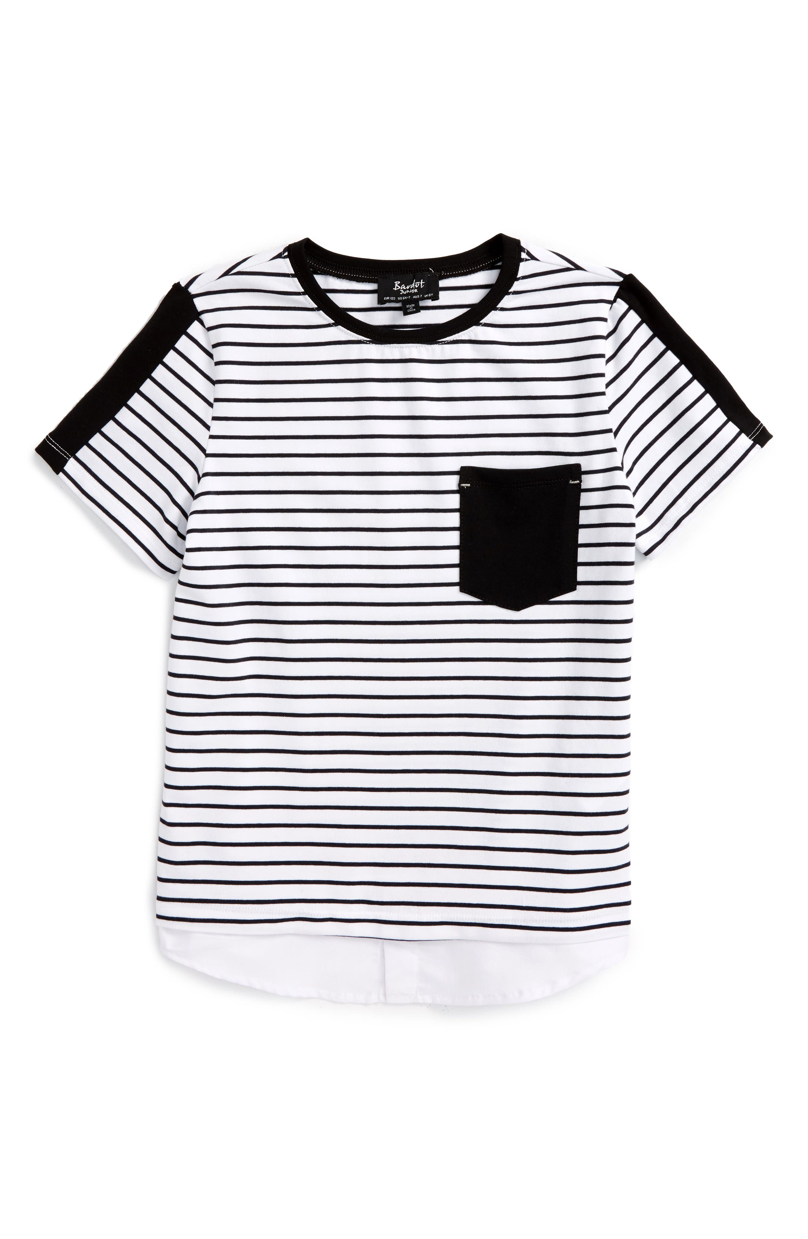 Main Image - Bardot Junior Stripe T-Shirt (Toddler Boys & Little Boys)