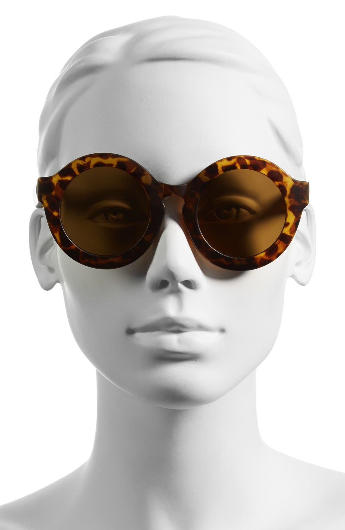 Alternate Image 2  - Leith 'Penelope' Tortoise' Round Sunglasses