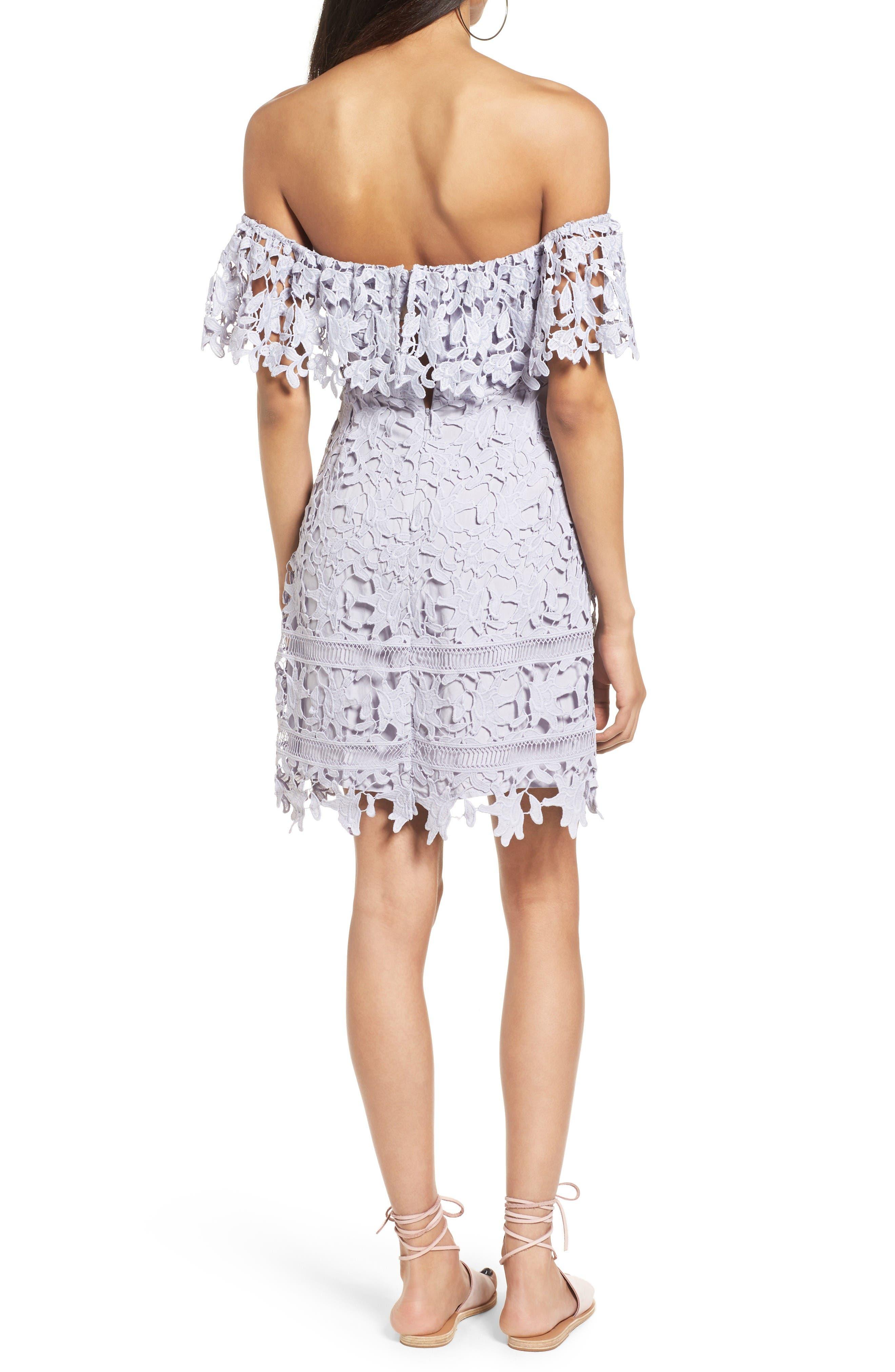 Alternate Image 2  - ASTR the Label Off the Shoulder Lace Minidress
