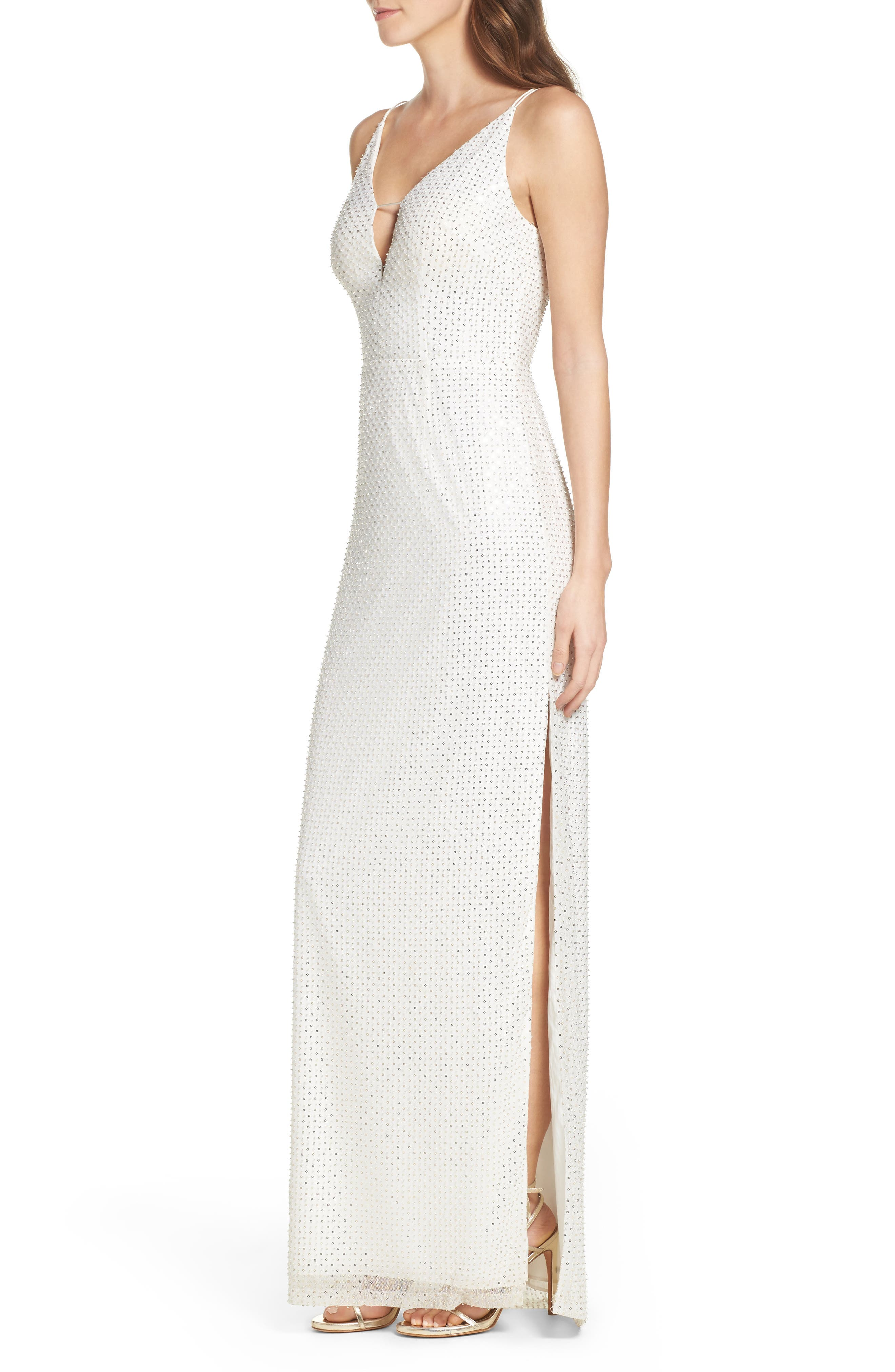 Alternate Image 3  - Aidan by Aidan Mattox Embellished Column Dress