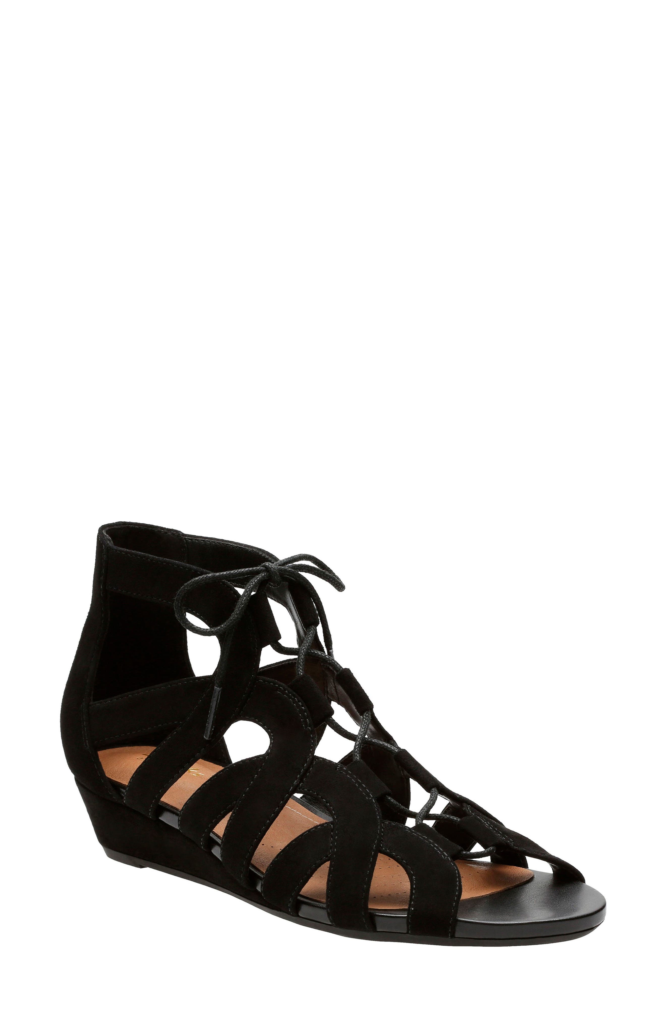 Alternate Image 1 Selected - Clarks® Parram Lux Sandal (Women)