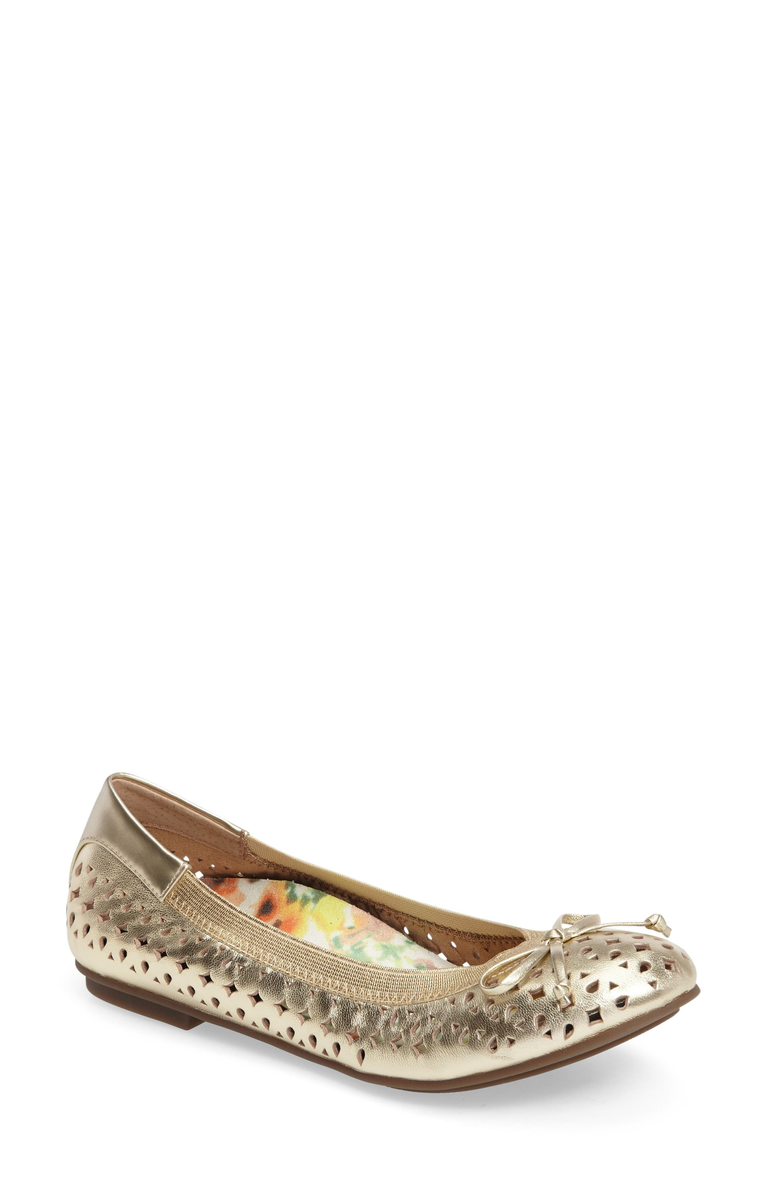 Vionic 'Surin' Perforated Ballet Flat (Women)