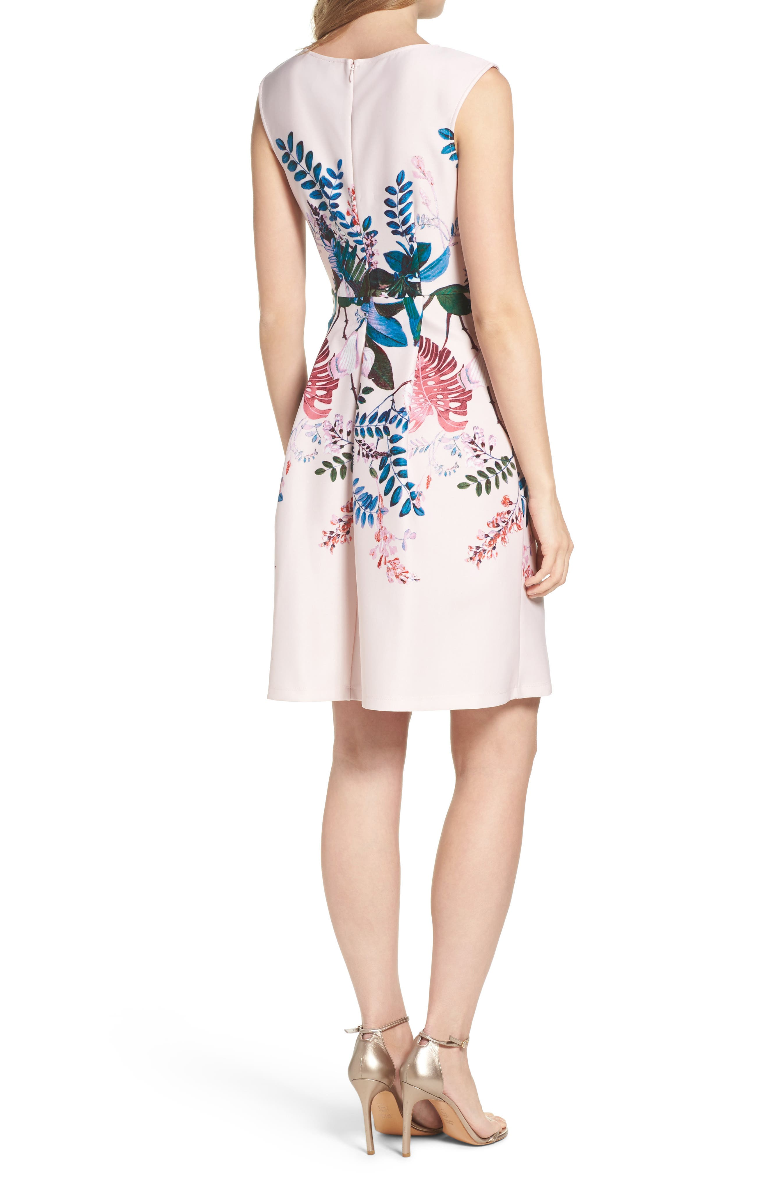 Alternate Image 2  - Adrianna Papell Placed Print Fit & Flare Dress