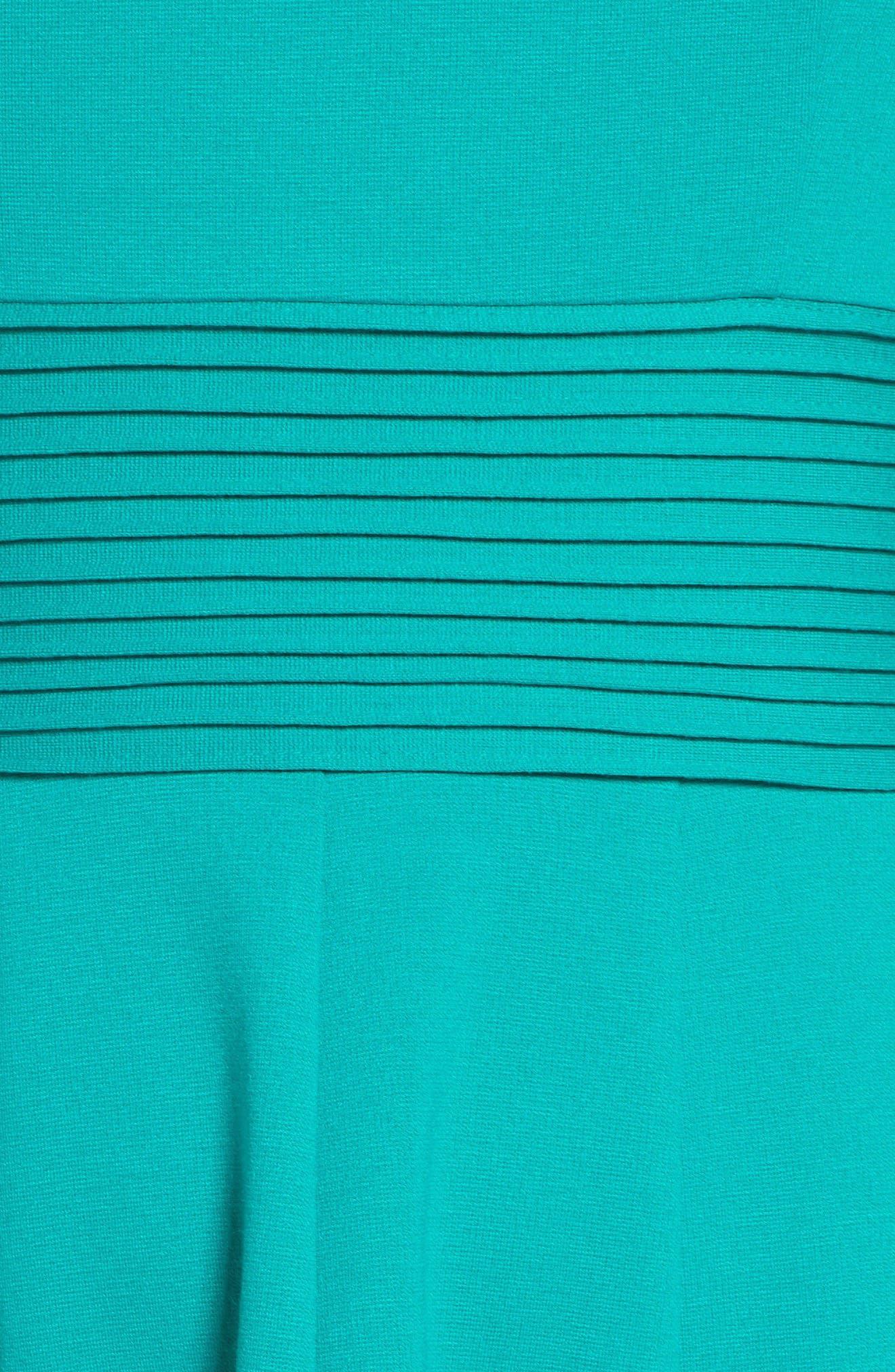 Alternate Image 6  - Eliza J Ponte Fit & Flare Dress