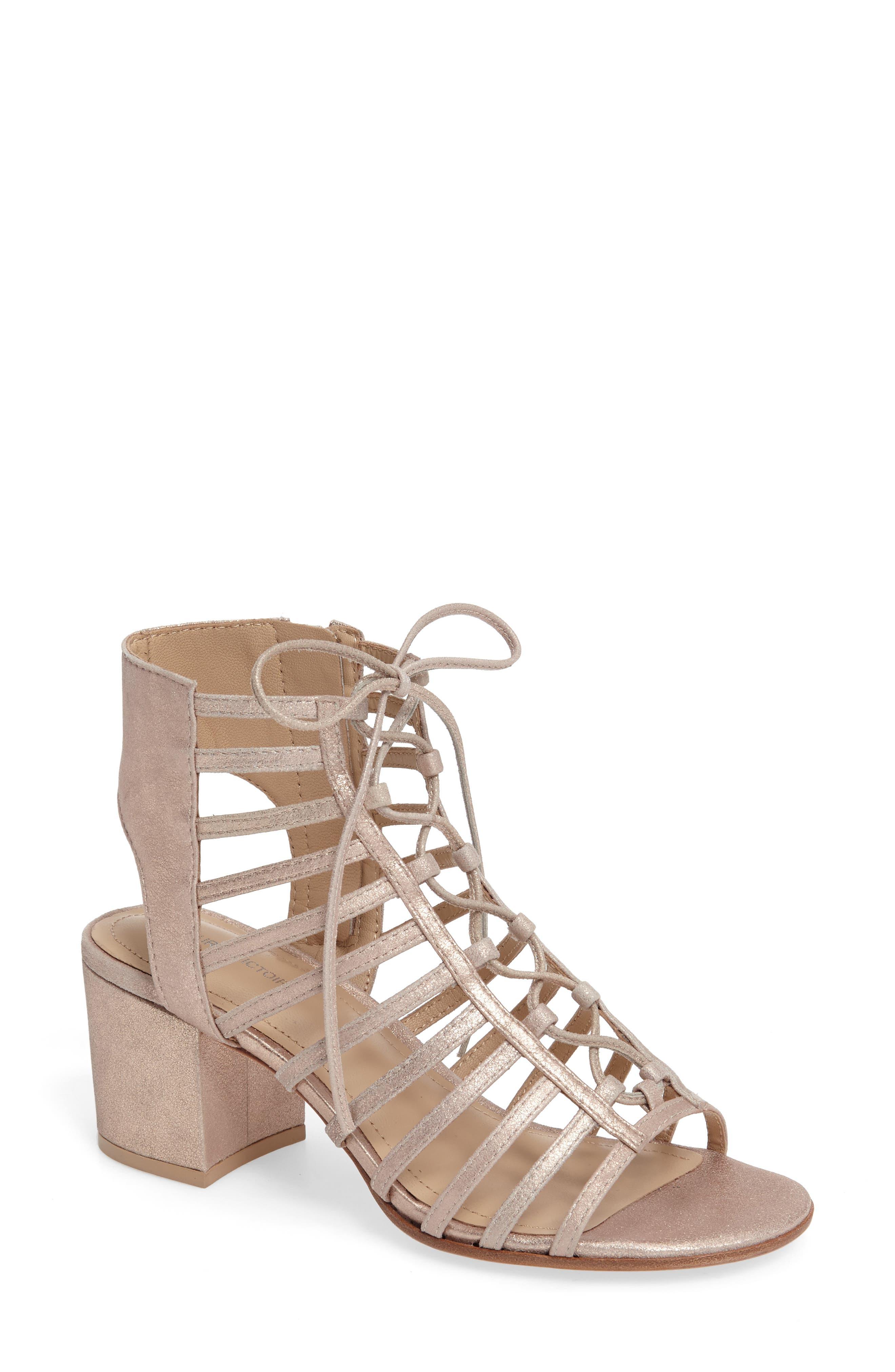 POUR LA VICTOIRE 'Amabelle' Lace-Up Sandal