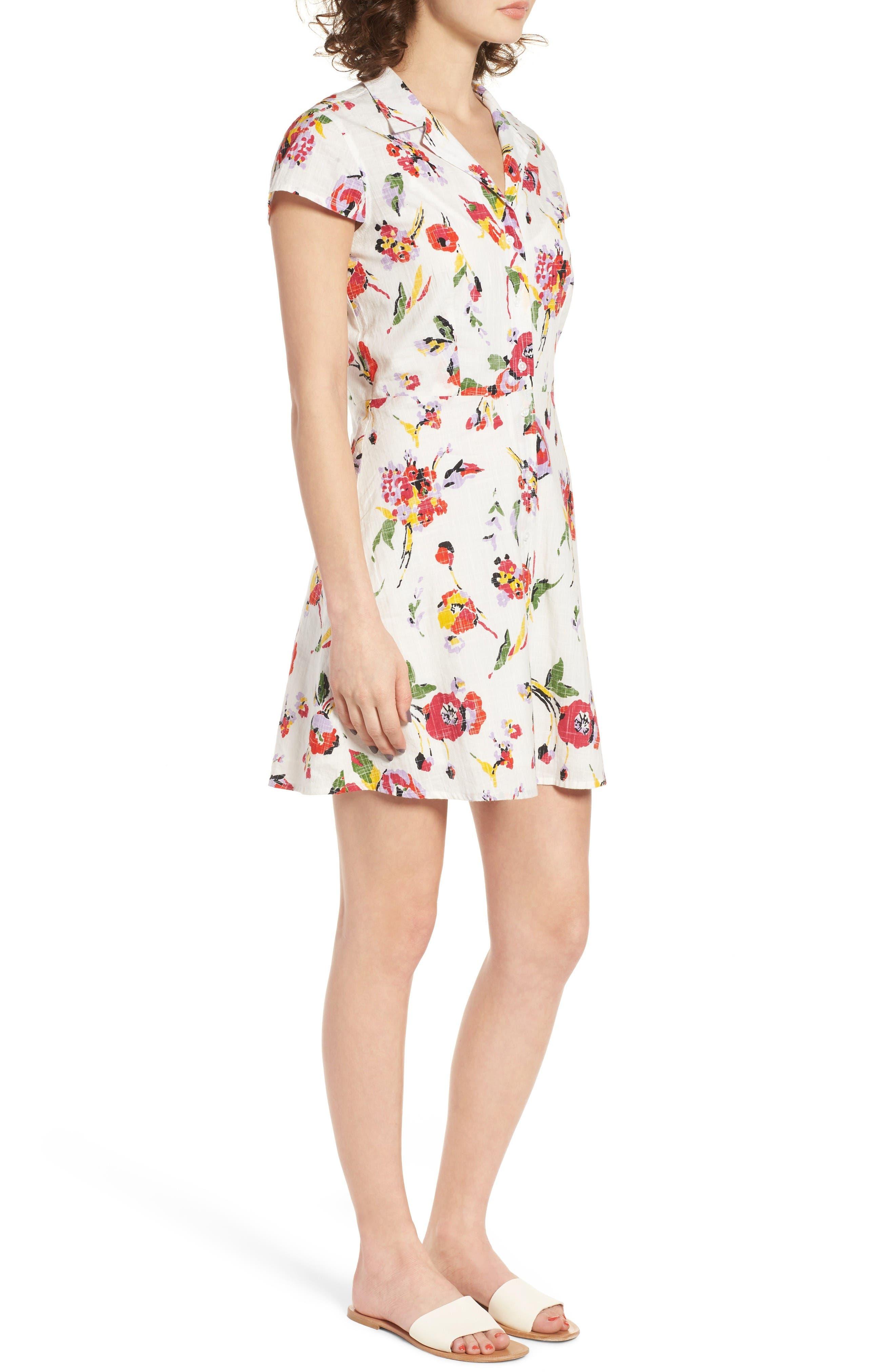 Alternate Image 3  - Obey Desi Floral Print Cotton Dress