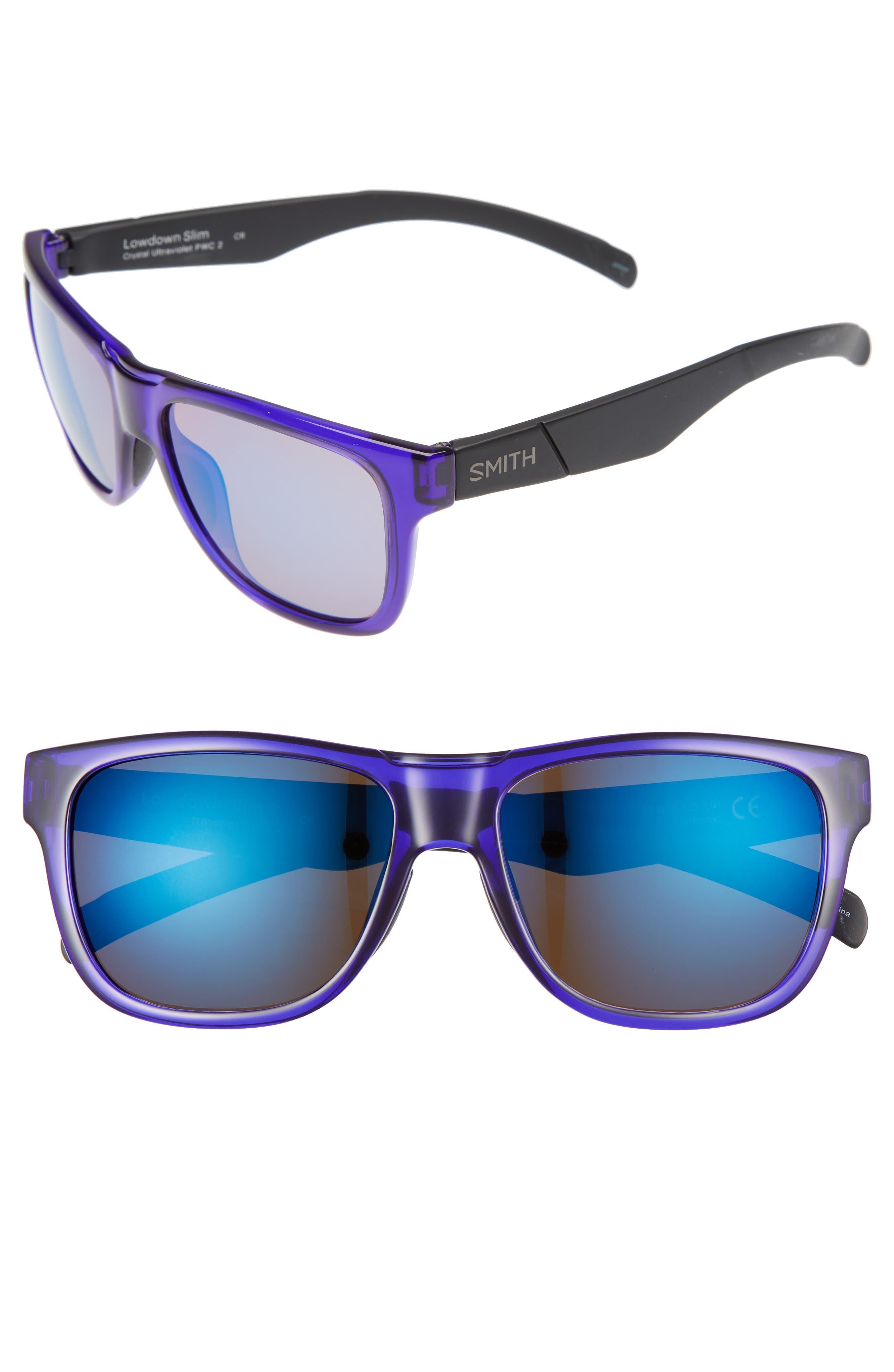 Smith Lowdown Slim 53mm Mirrored Sunglasses