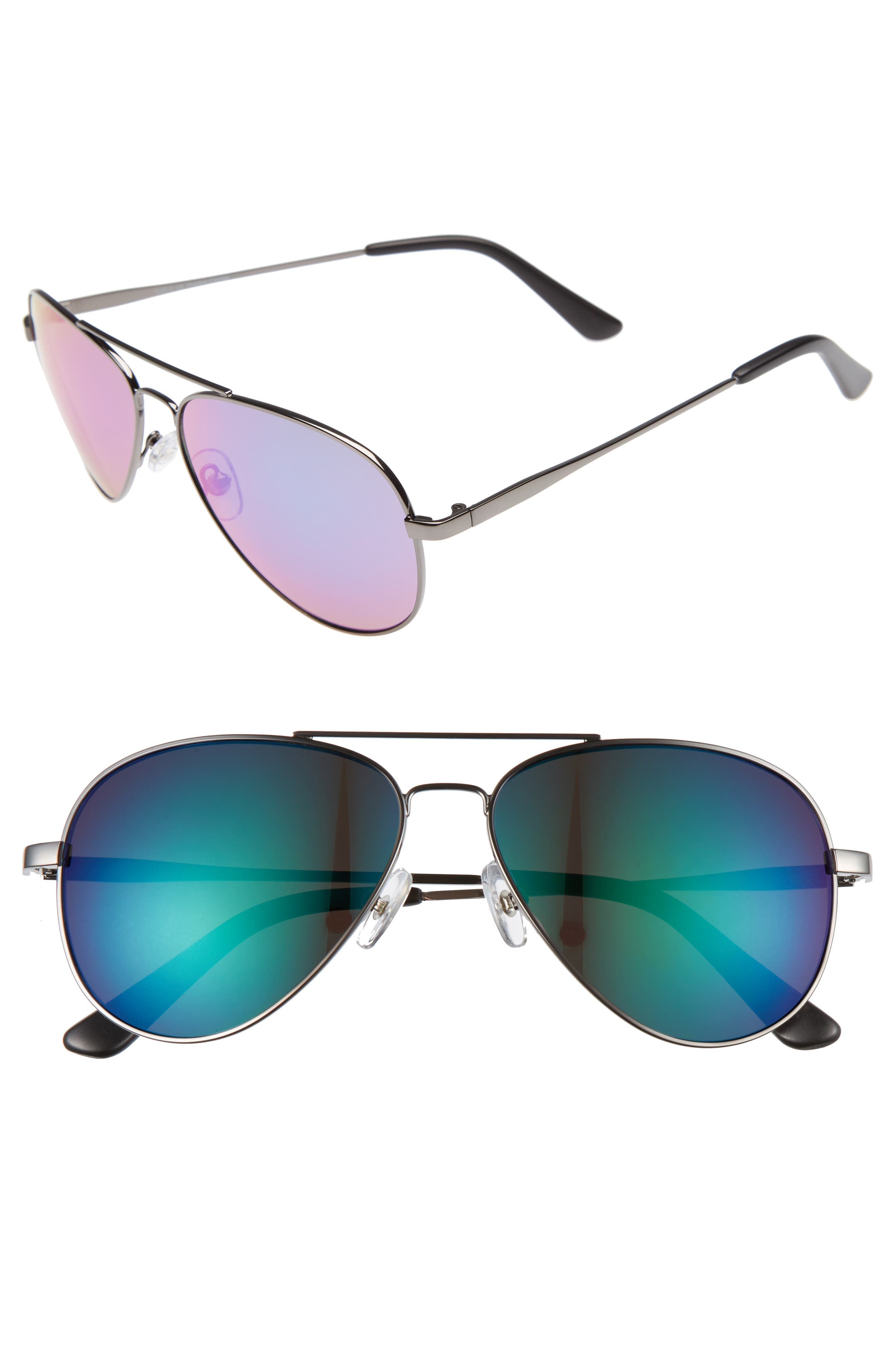 1901 Davis 59mm Aviator Sunglasses