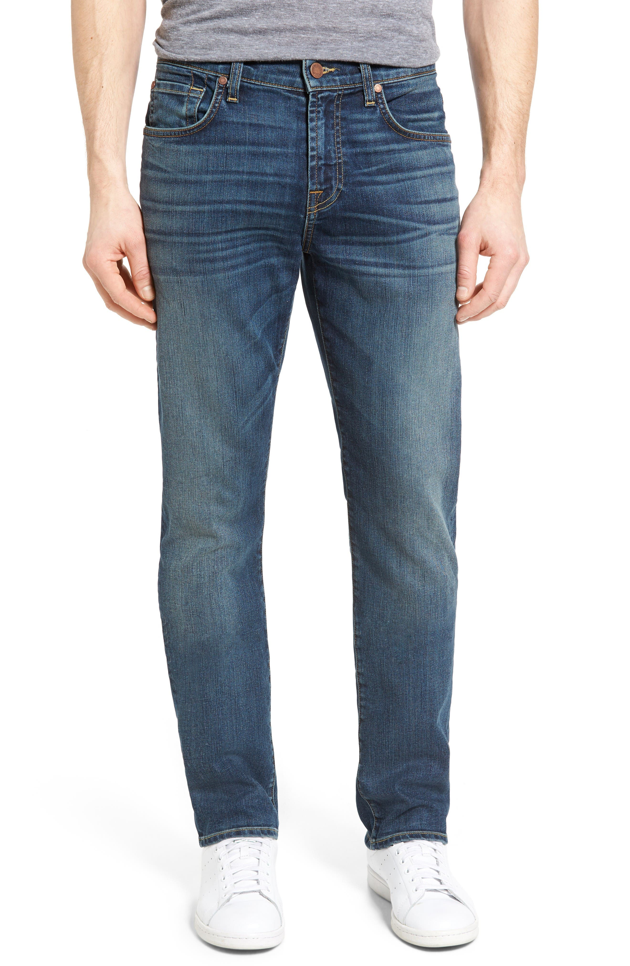 7 For All Mankind® Straight Slim Straight Leg Jeans (Riptide)