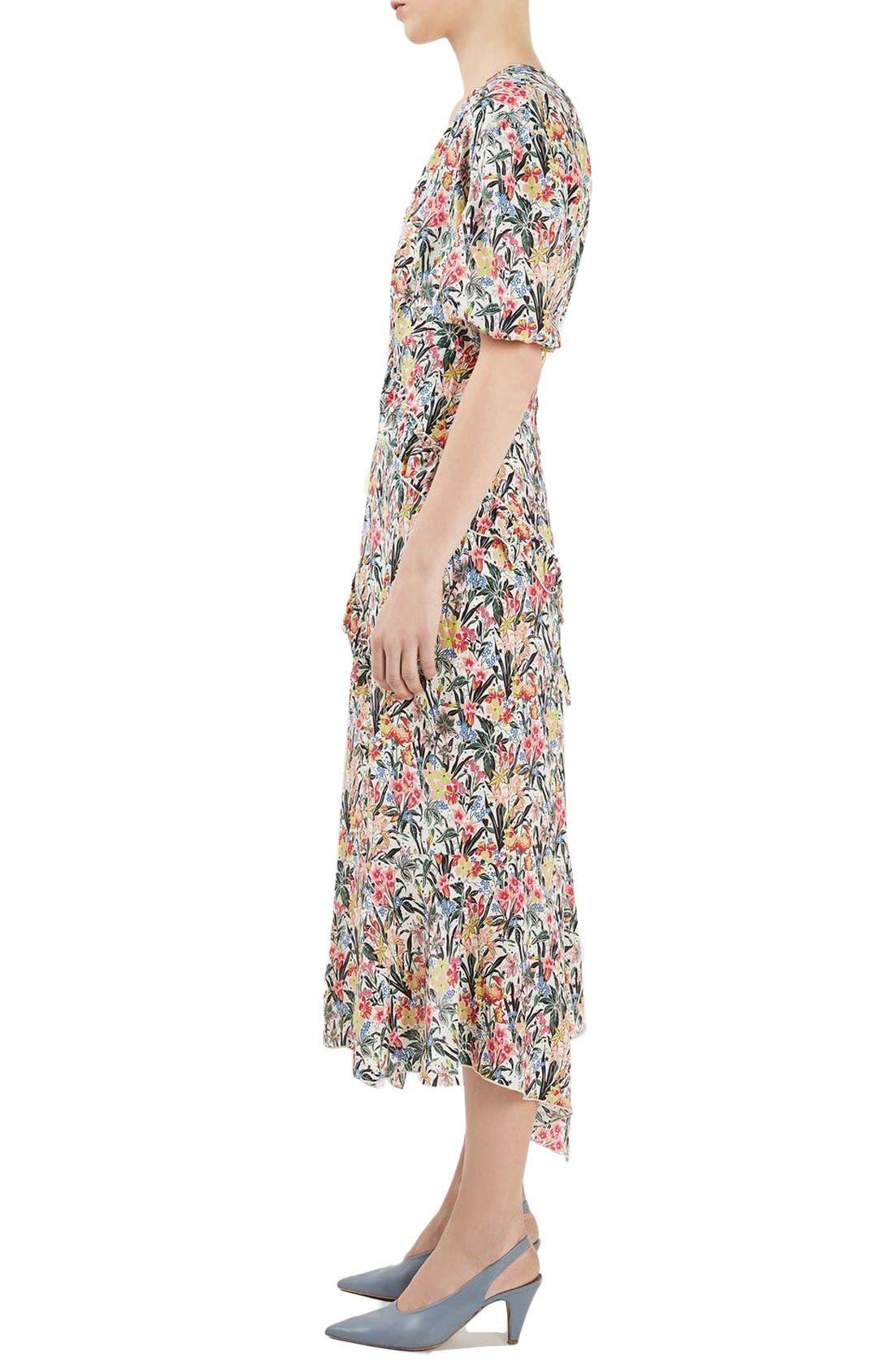 Alternate Image 4  - Topshop Unique Aster Silk Midi Dress