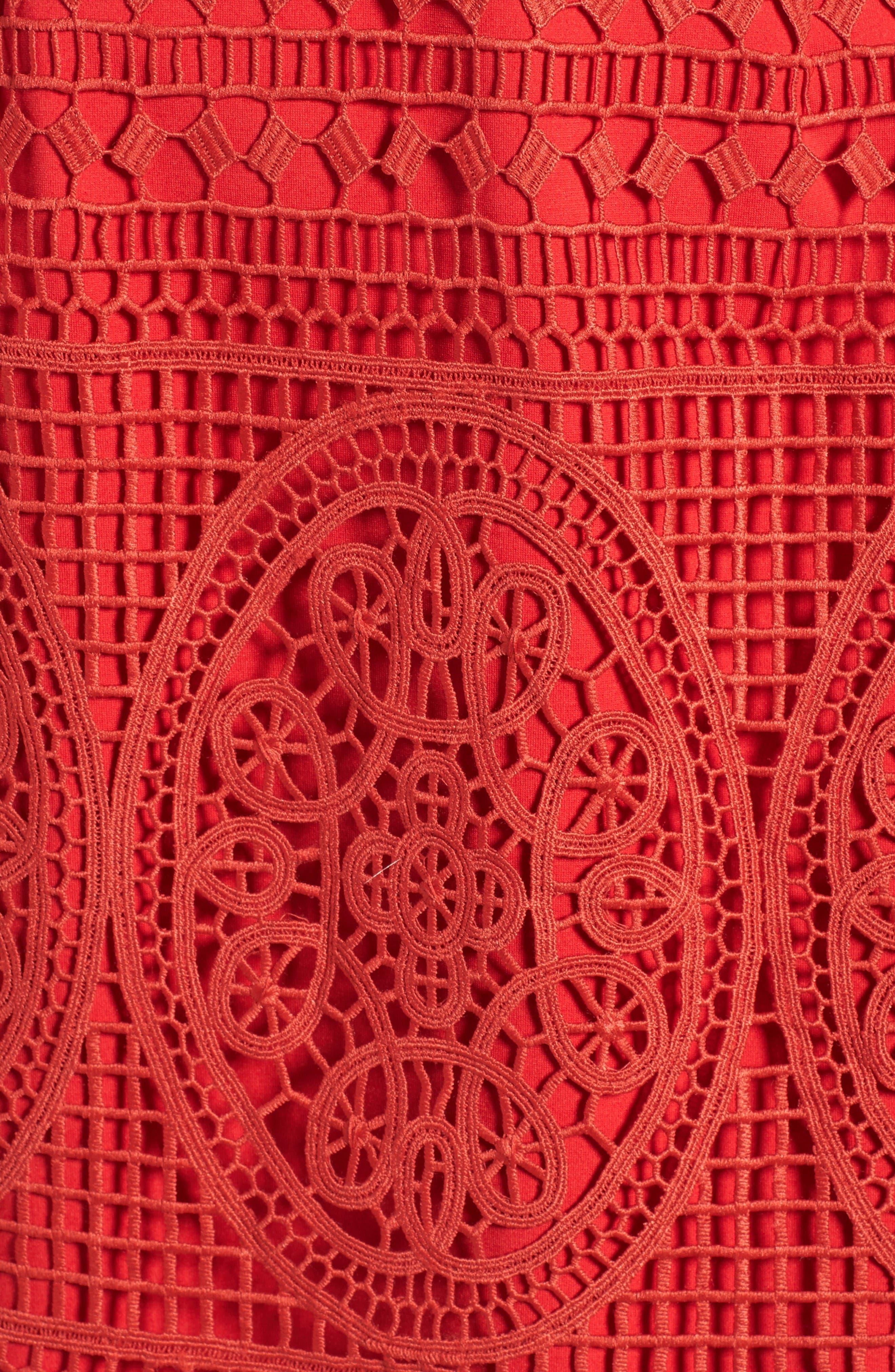 Alternate Image 6  - Lovers + Friends Orchard Crochet Minidress