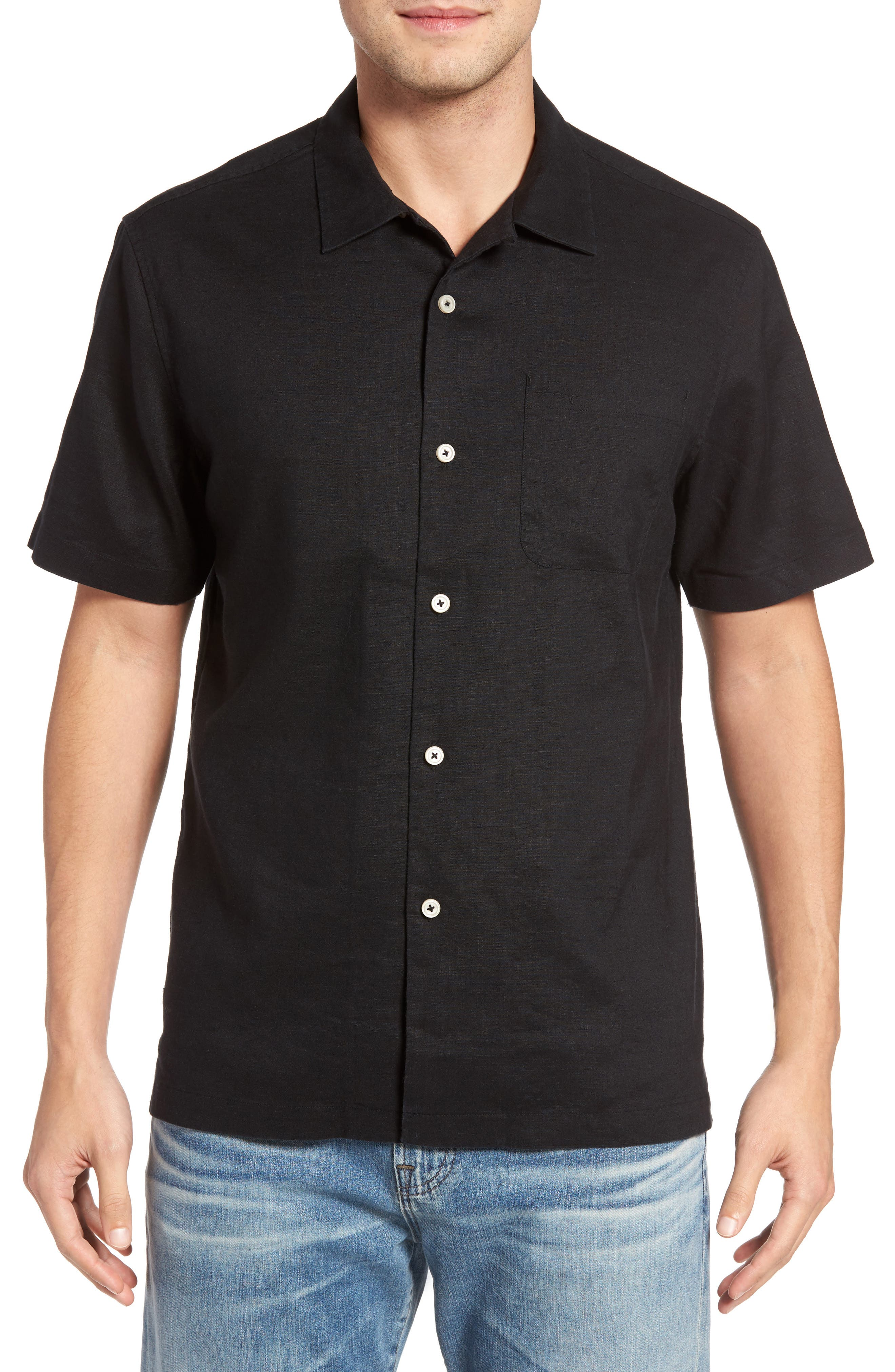 Tommy Bahama Monaco Tides Standard Fit Linen Blend Camp Shirt