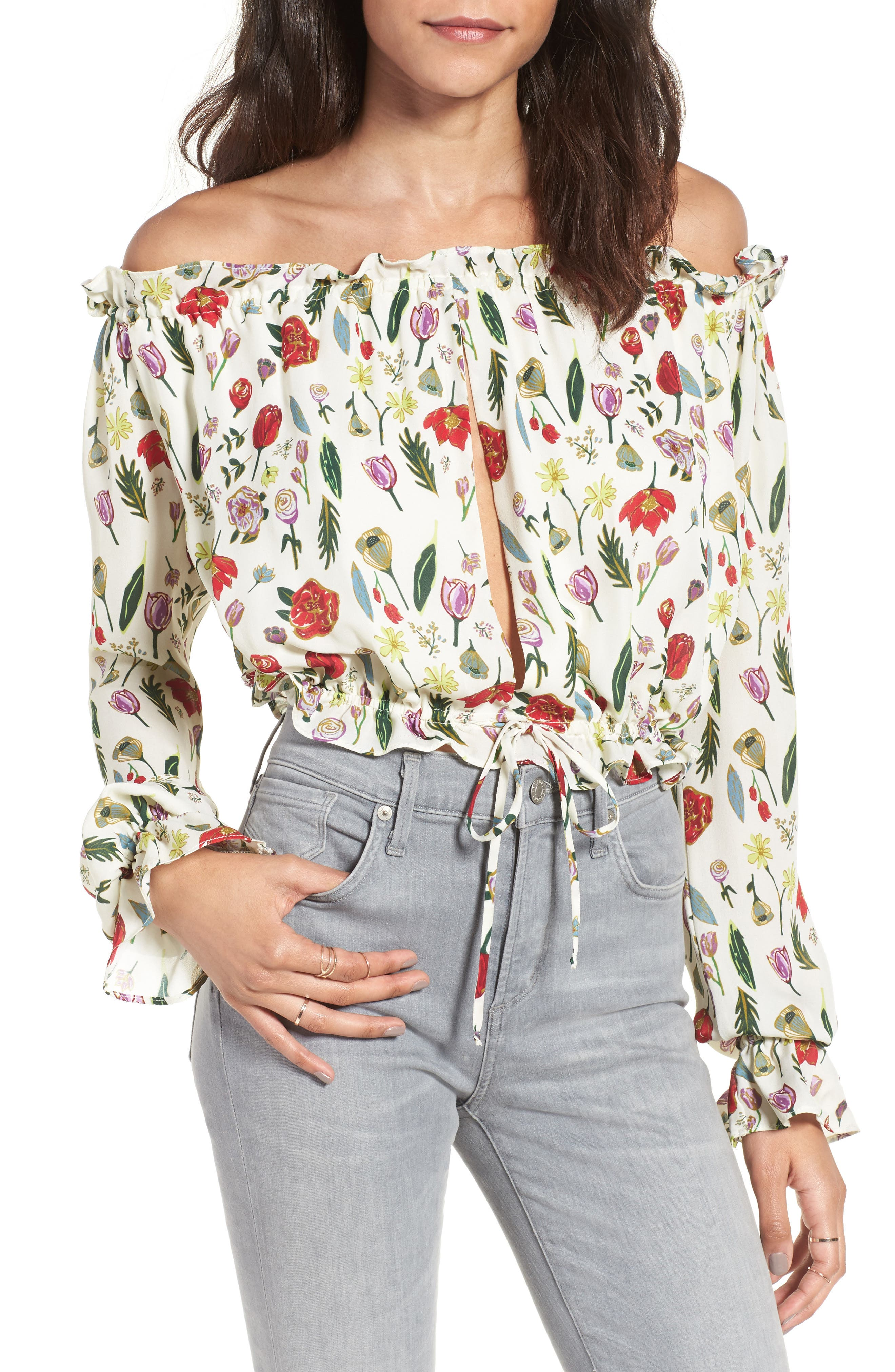 Main Image - Stone Cold Fox Savona Off the Shoulder Silk Blouse