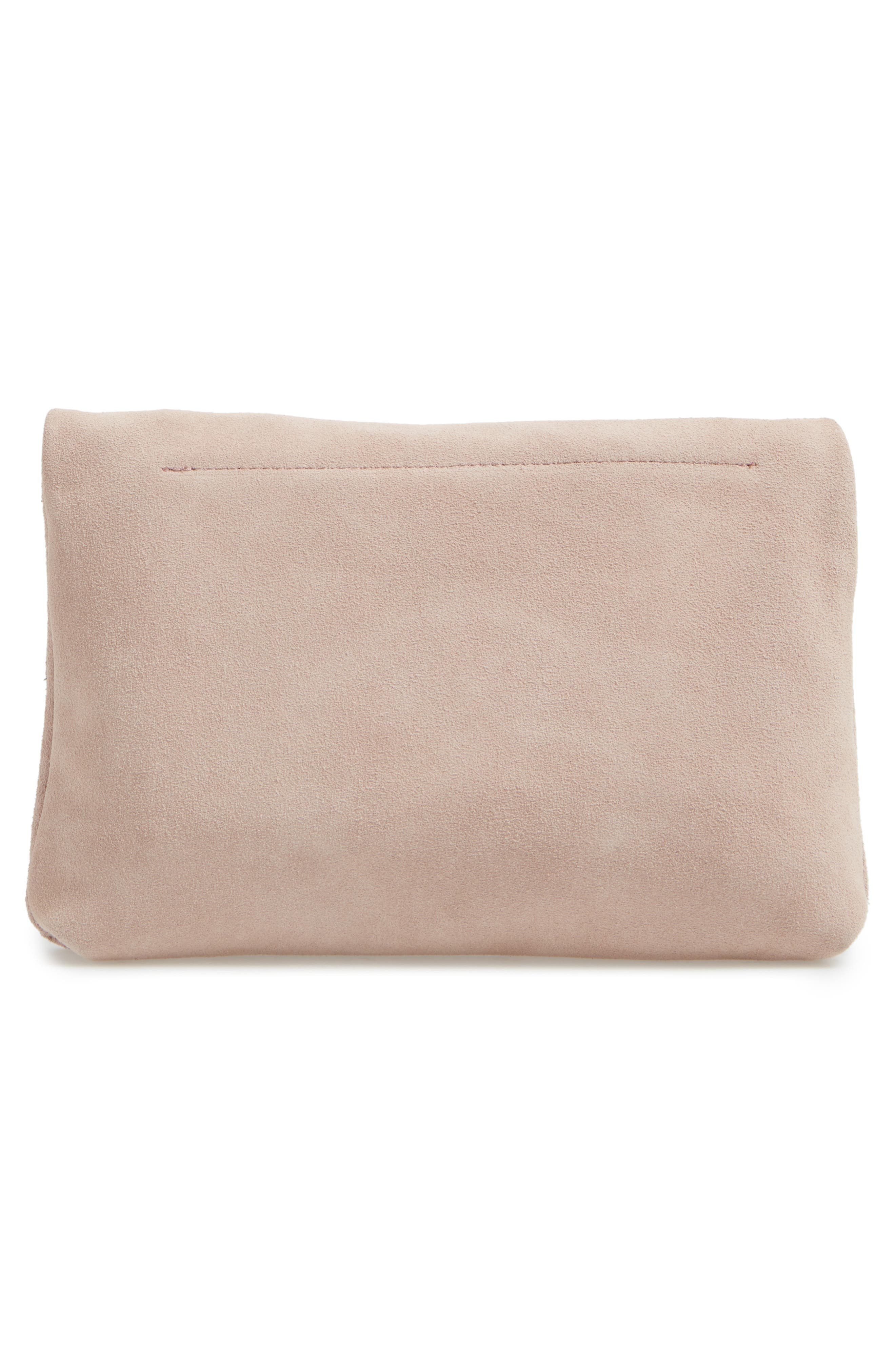 Alternate Image 3  - Sole Society Maron Foldover Suede Clutch