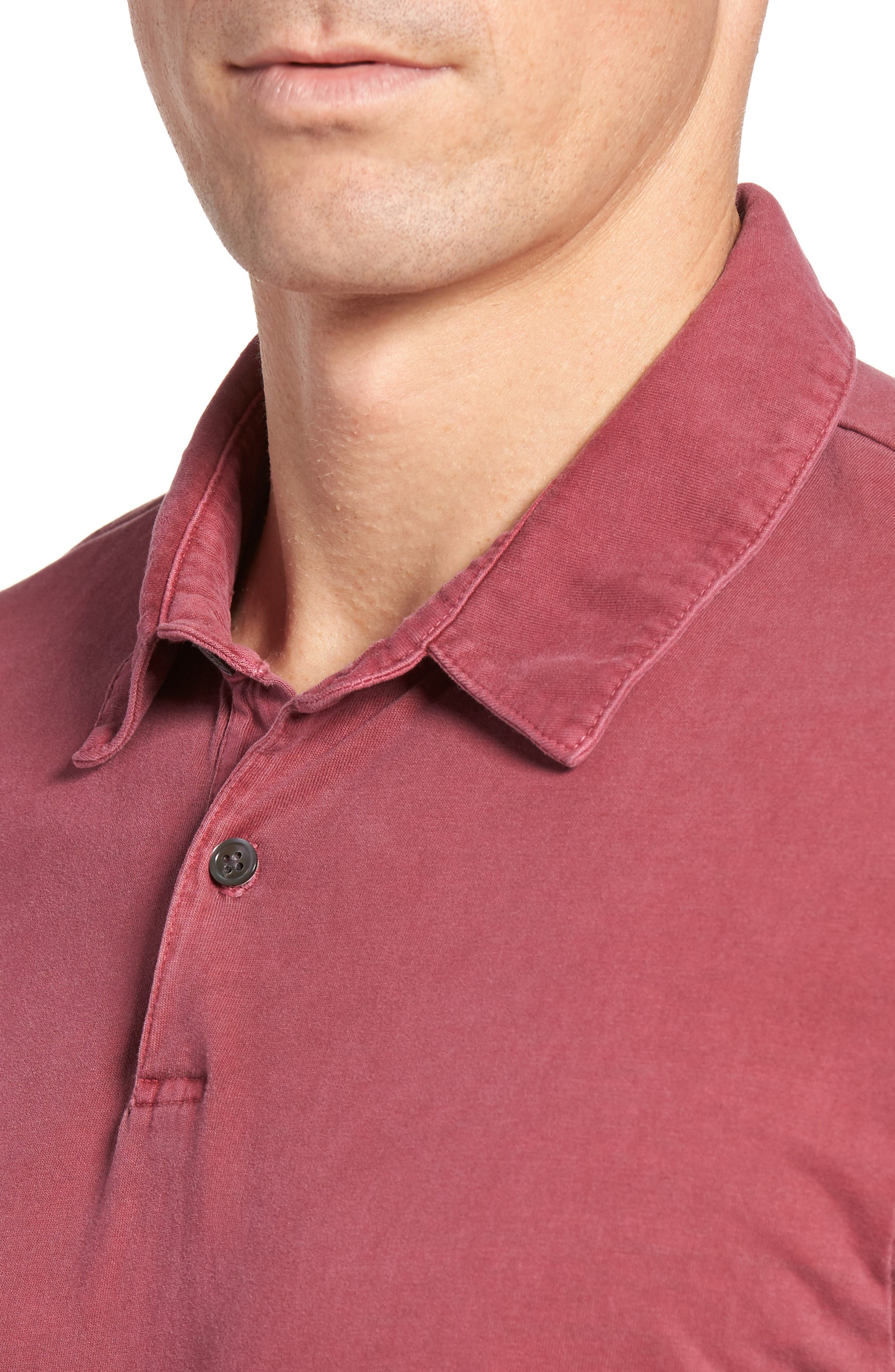 Alternate Image 4  - James Perse Slim Fit Sueded Jersey Polo