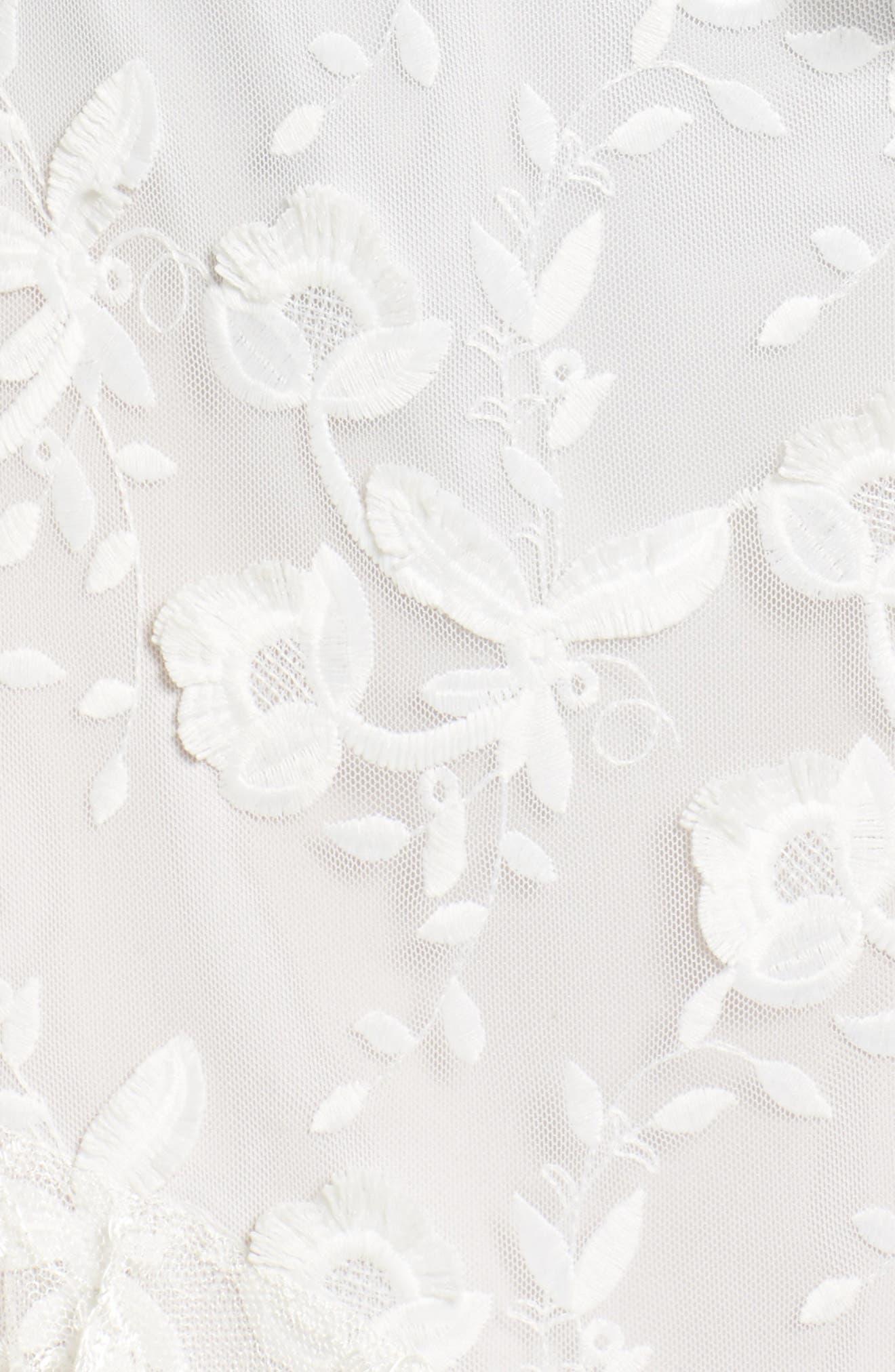 Alternate Image 5  - Sachin & Babi Noir Prima Asymmetrical Mesh Gown