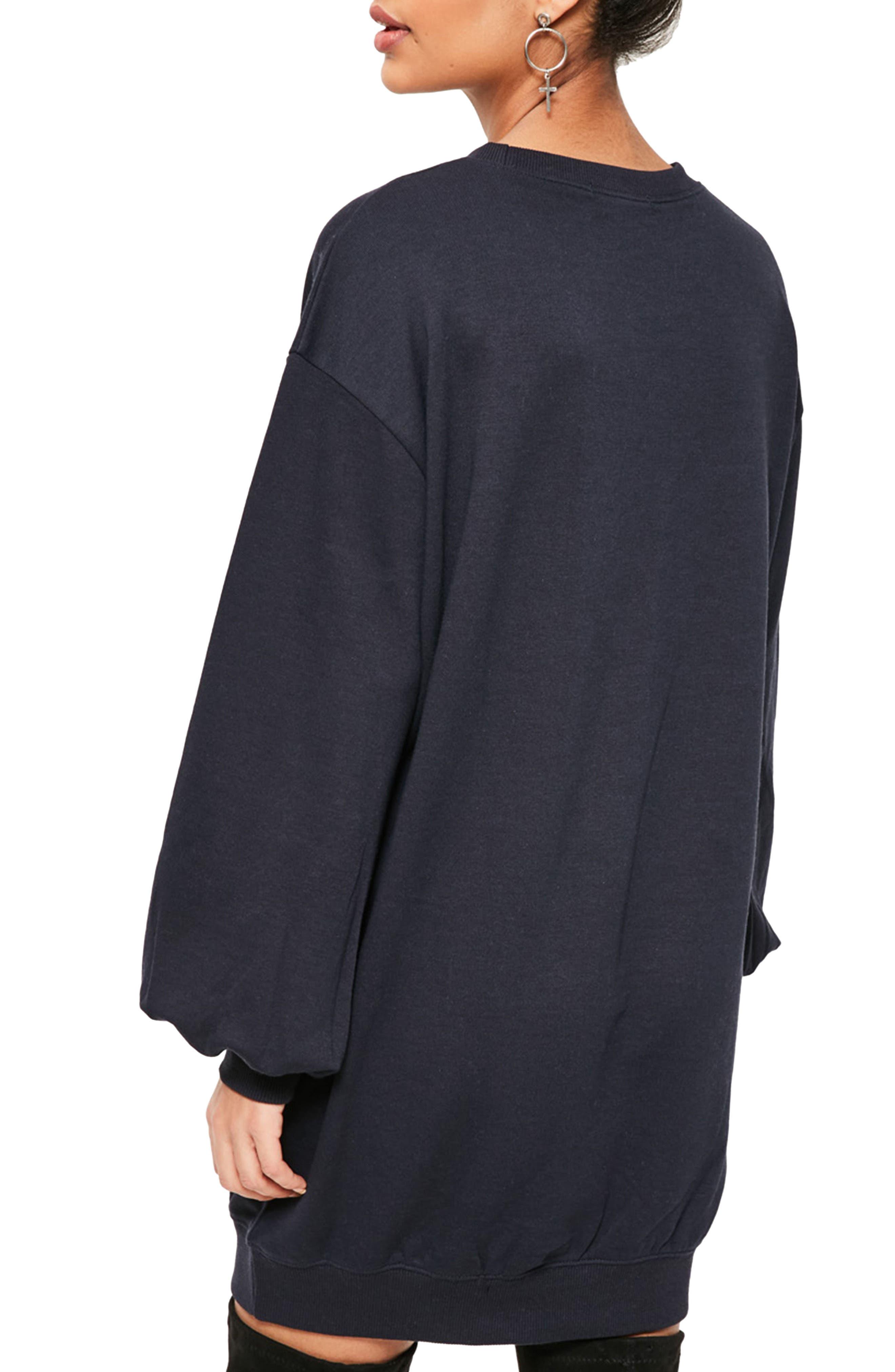 Alternate Image 2  - Missguided Balloon Sleeve Knit Dress