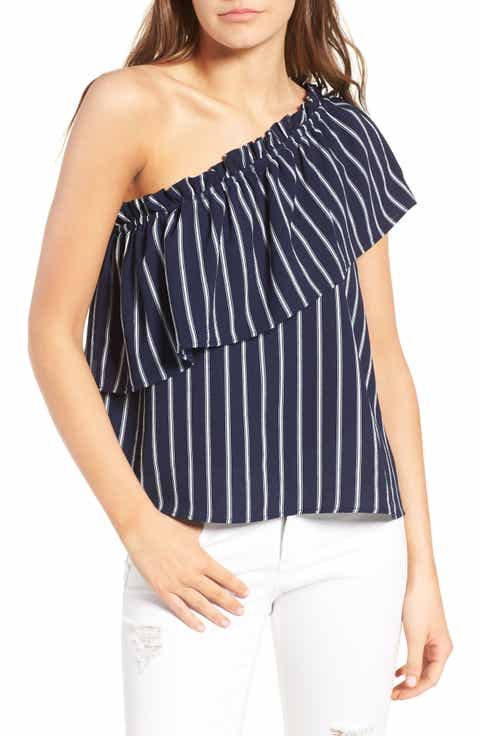 BP. One-Shoulder Ruffle Top